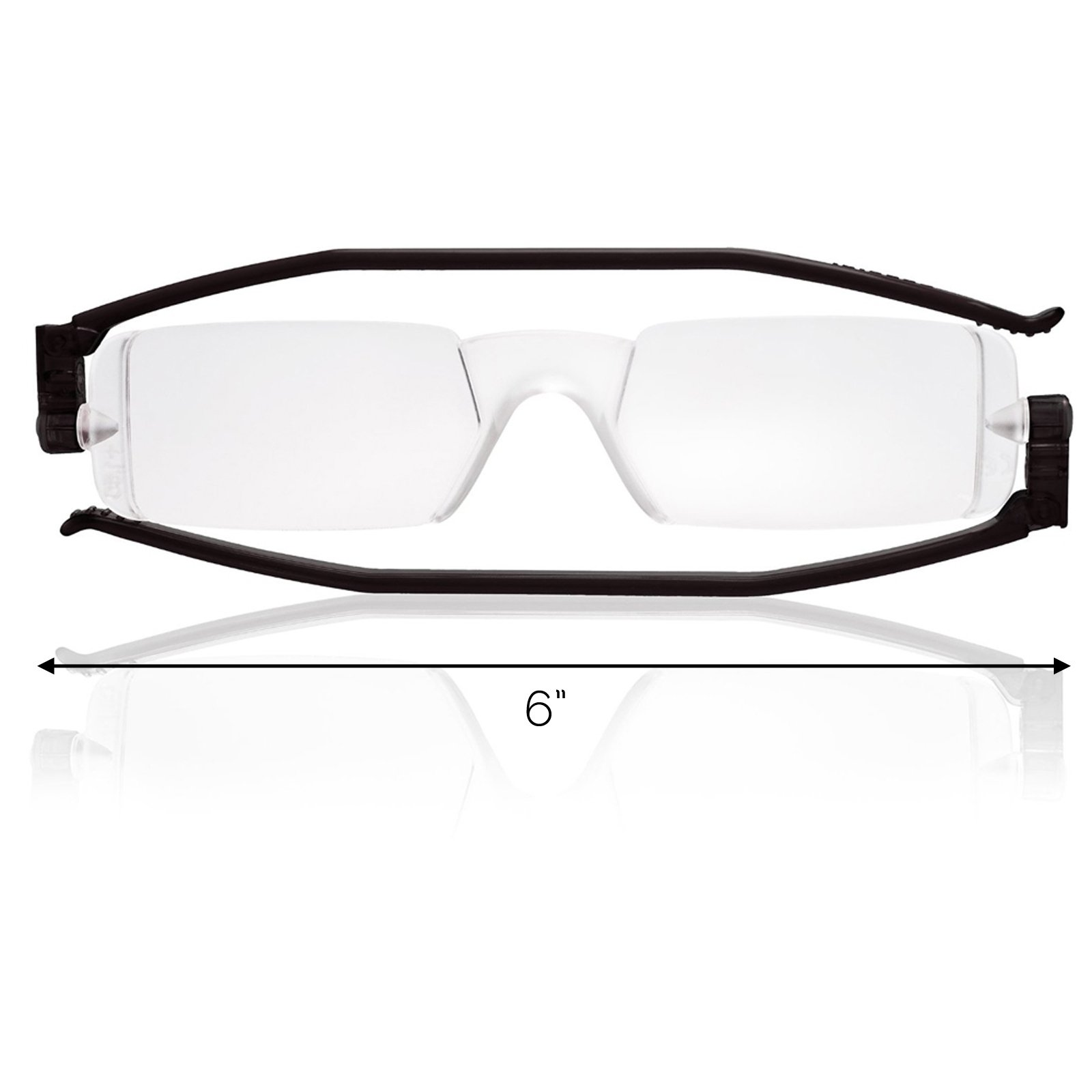 Reading Glasses Nannini Italy Vision Care Unisex Ultra Thin Readers - Black 2.0
