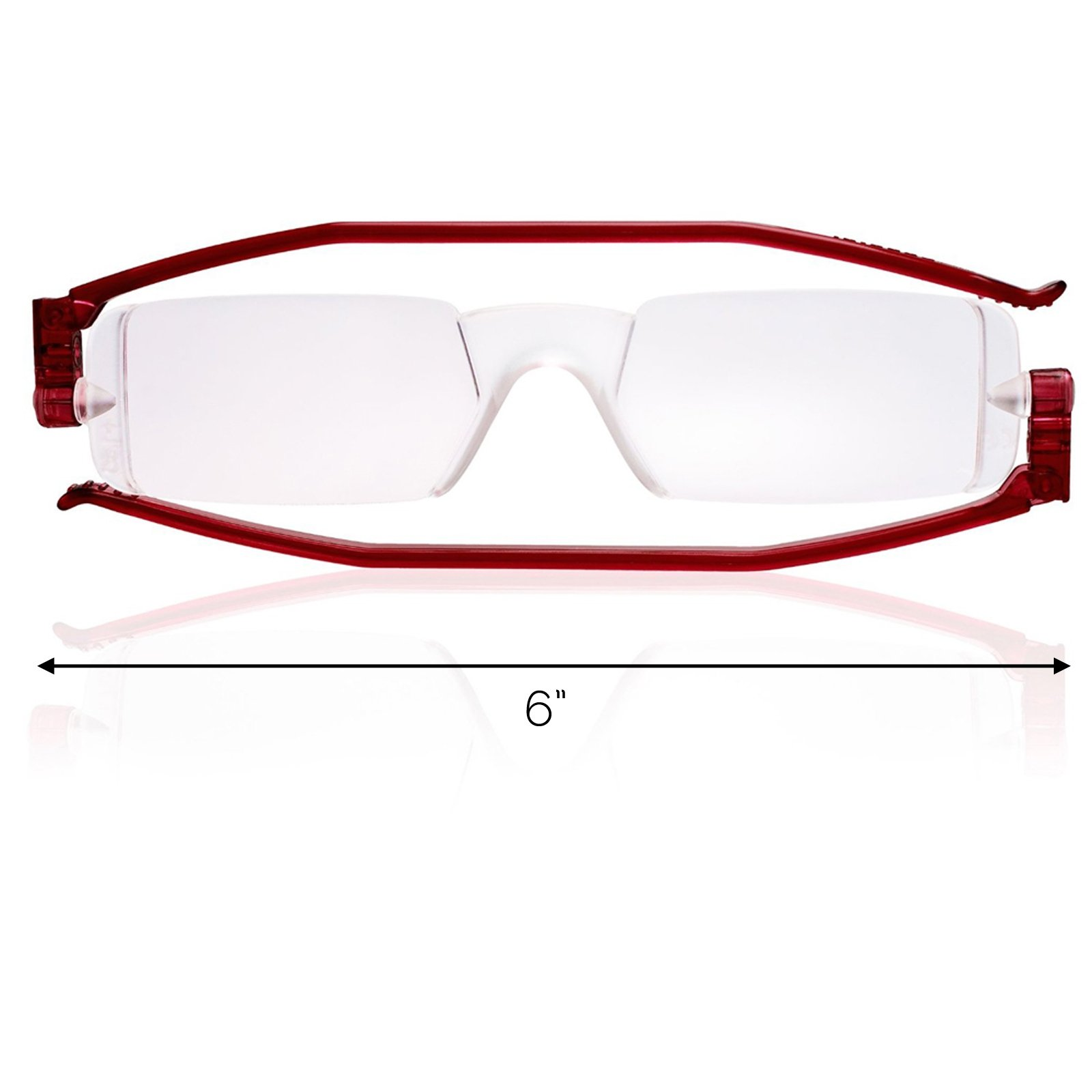 Reading Glasses Nannini Italy Vision Care Unisex Ultra Thin Readers - Red 1.5