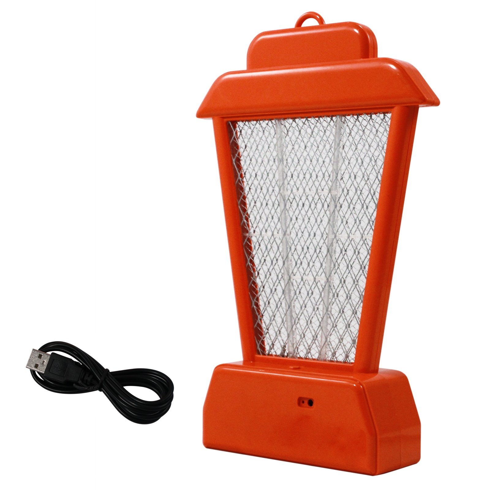 ASR Outdoor 11.5 Inch Rechargeable UV Hanging Bug Zapper Bright Orange Stand