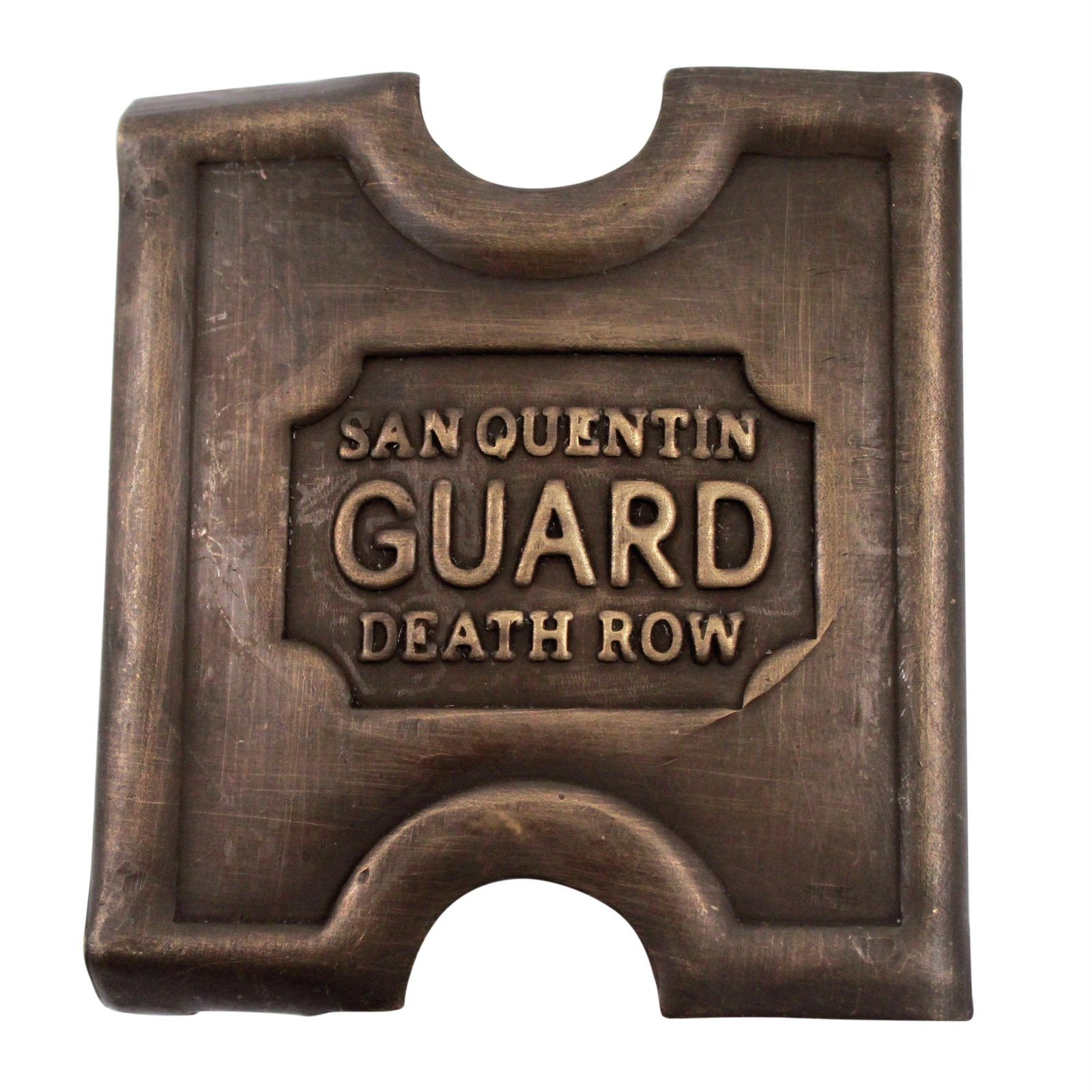 Brass San Quentin Guard Belt Buckle