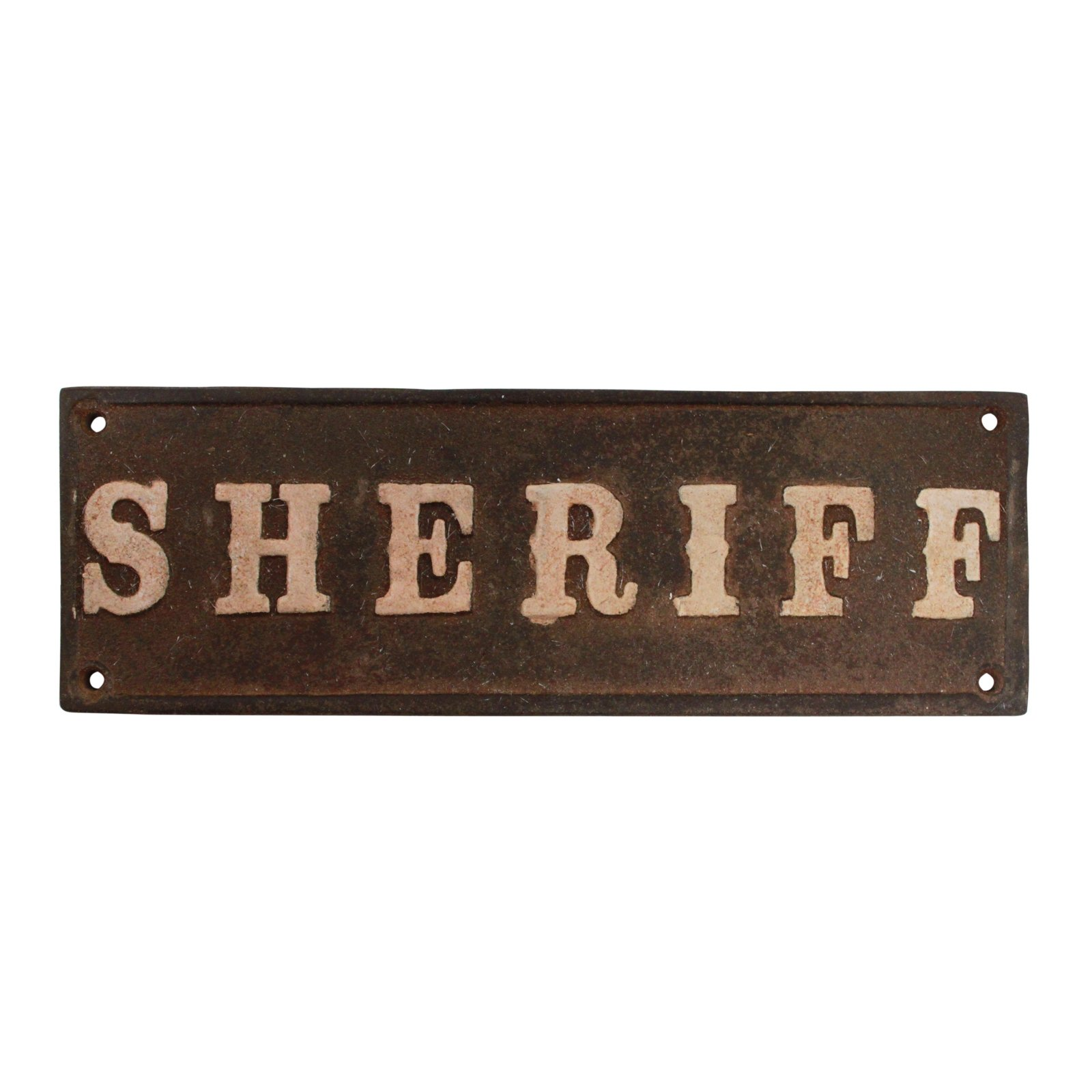 Decorative Sheriff Western Theme Cast Iron Plaque