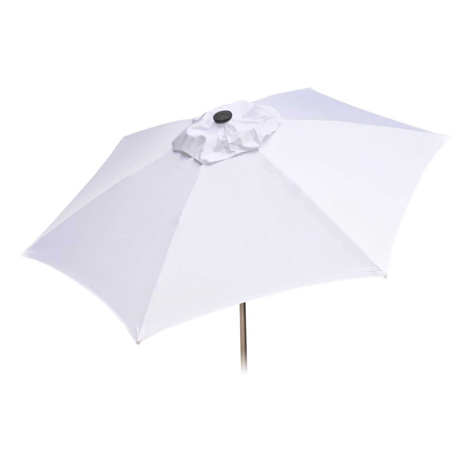 8ft Tilt Doppler Vented Market Umbrella Home Patio Outdoor Sun Canopy - White
