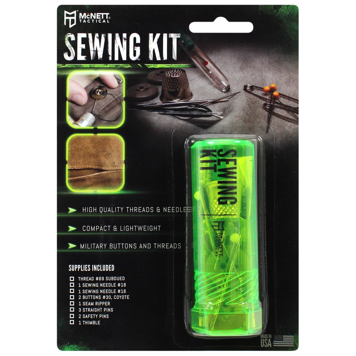 Gear Aid Sewing Kit for Tactical High Quality Compact Outdoor Clothing Repair