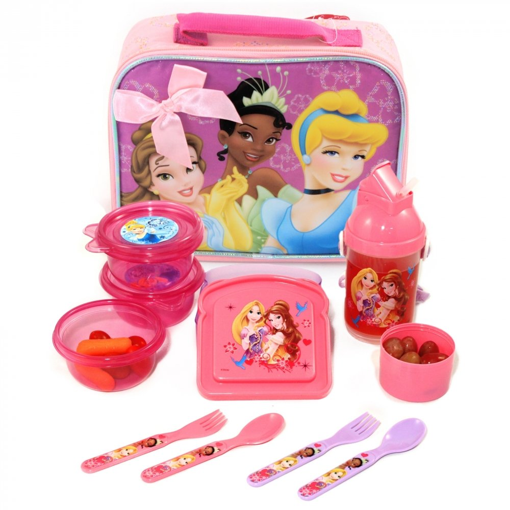 Disney Princess Insulated Lunch Bag Full Lunch Set
