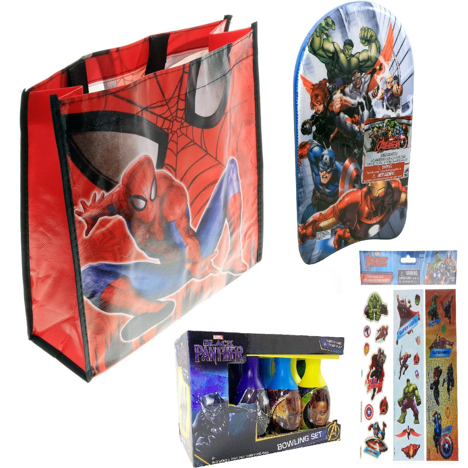 Marvel Super Heroes Kids Easter Basket Tote Bag Bundle Toys Gift Set