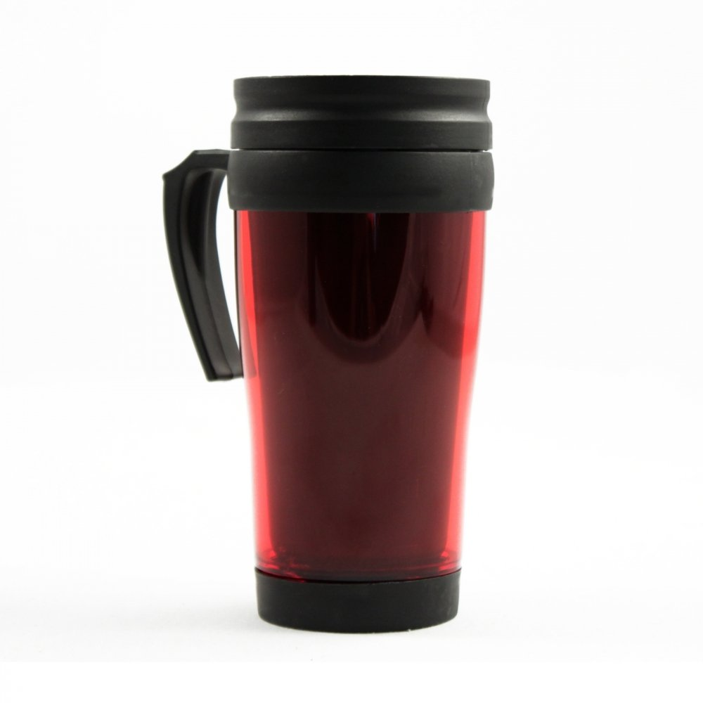 16oz Red Travel Mug Car Coffee Cup Auto Beverage Holder Tumbler