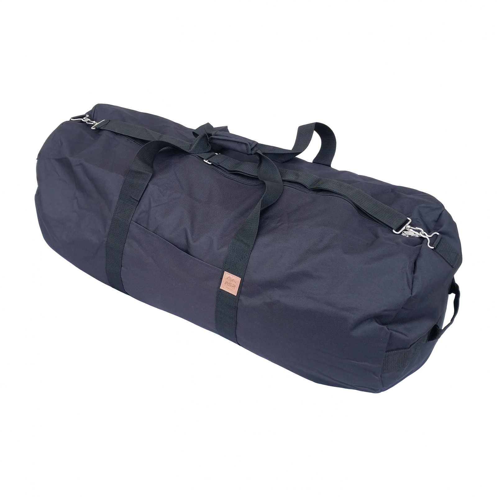 ASR Outdoor Classic Round Duffel Bag 40 Inch Matte Black