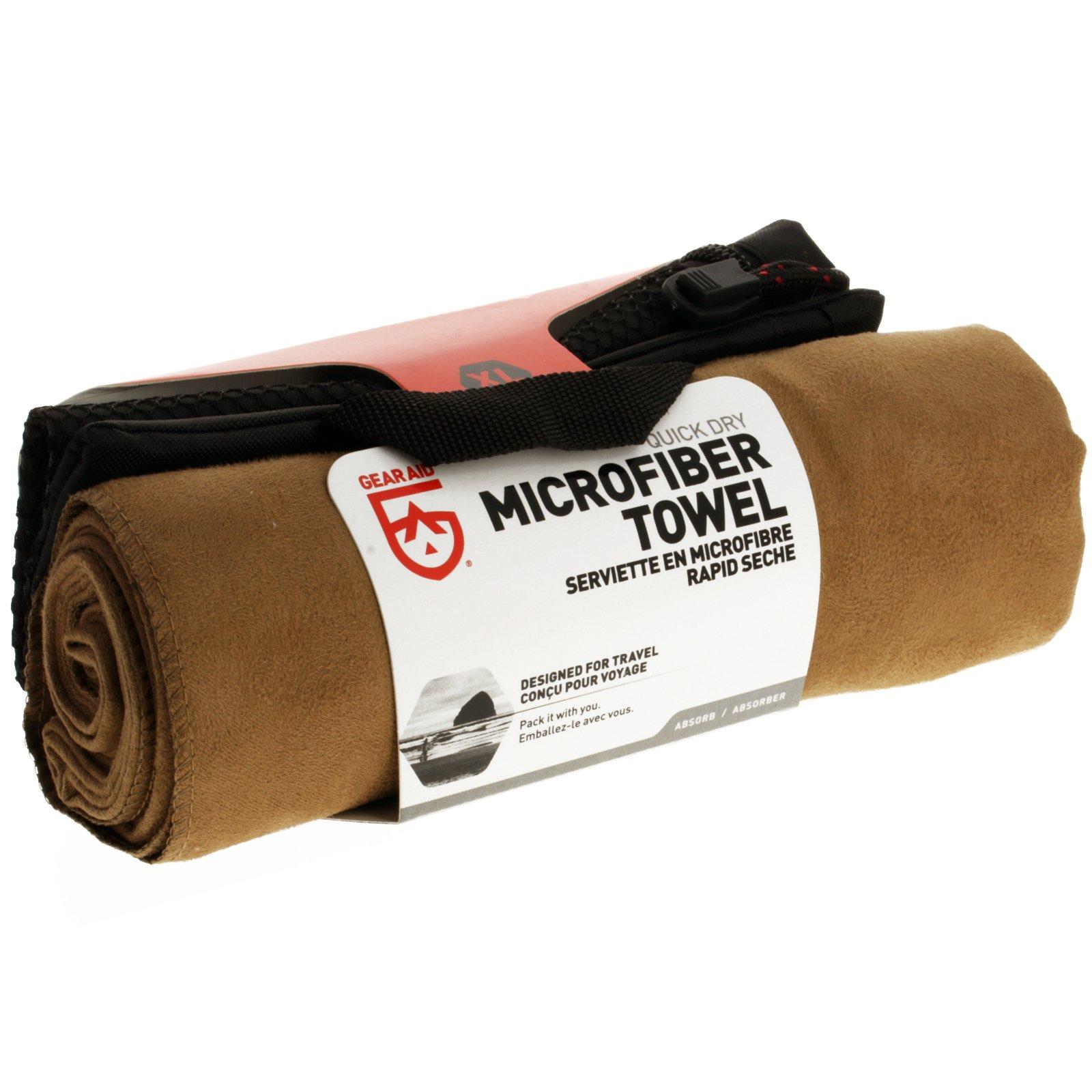 Ultra Compact Absorbent Microfiber Towel Outdoor Recreation - Mocha XL