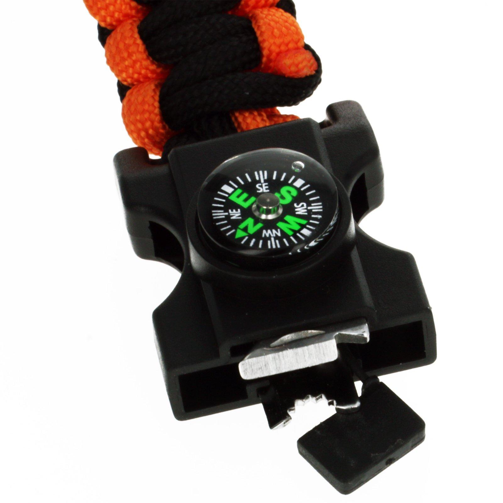 ASR Outdoor- Multitool Paracord Survival Bracelet - Orange and Black