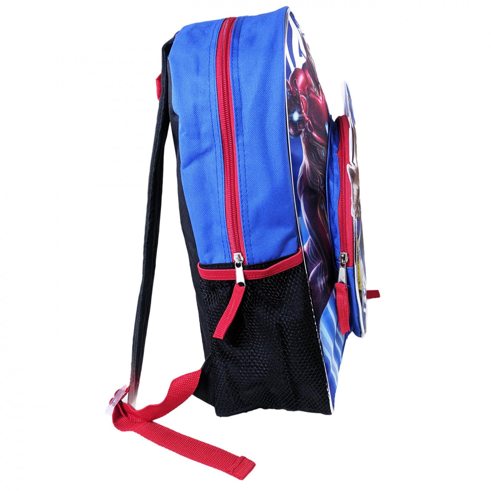 Marvel Avengers Kids School Backpack Mesh Water Bottle Pockets Travel Bag