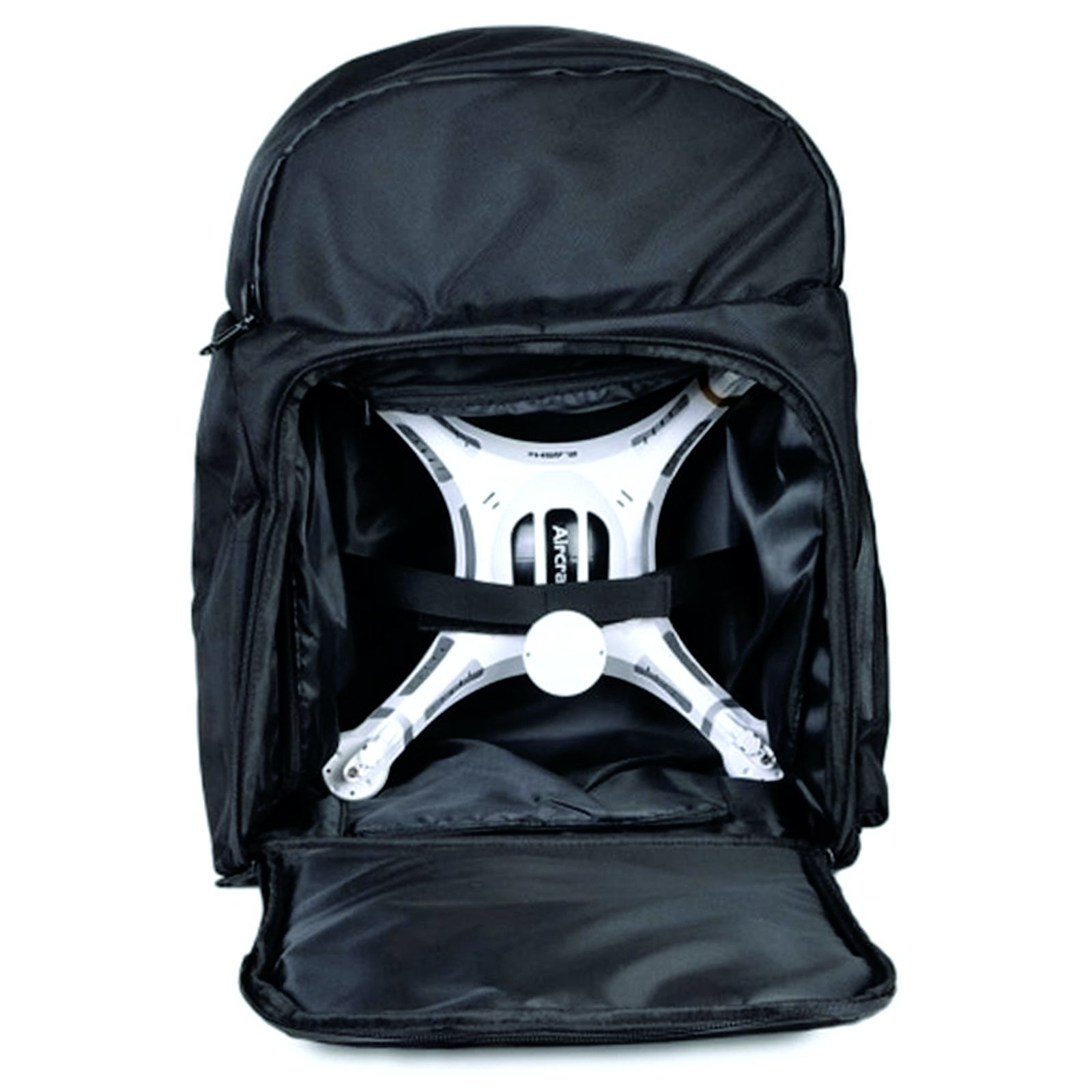 Quadcopter Drone Backpack Water Resistant Carry Bag - Black