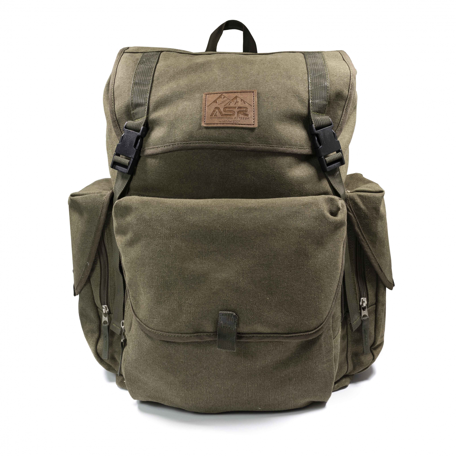 ASR Outdoor 30L Cotton Hiking Gold Panning Camping Travel Backpack Rucksack, Green