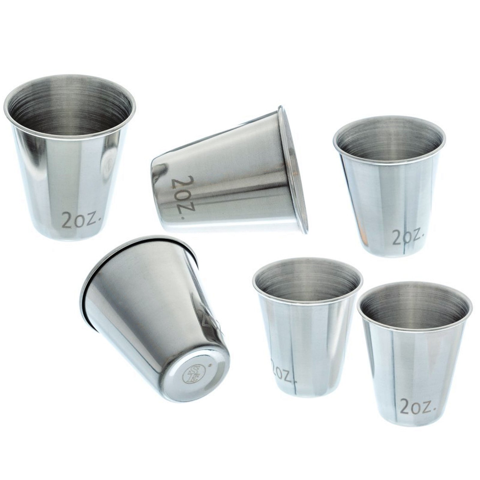 ASR Outdoor Stainless Steel Shot Glass Set - 6 Pack