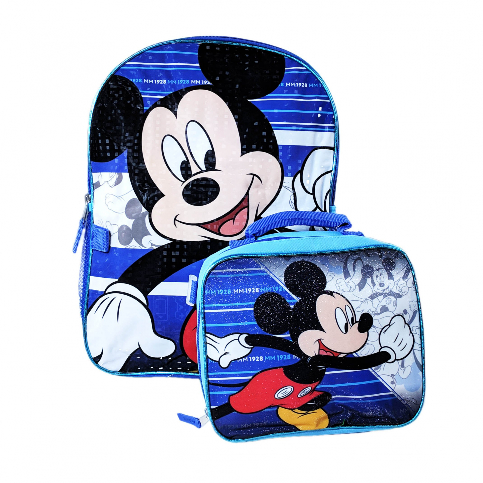 "Mickey Mouse Kids 16"" Backpack Insulated Lunch Bag Set"