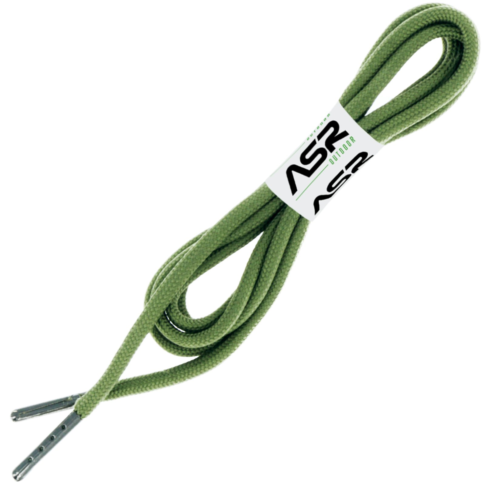 ASR Outdoor TraversaLace 550 Paracord Survival Laces for Shoes and Hiking Boots Green — 6ft, 1 Pair