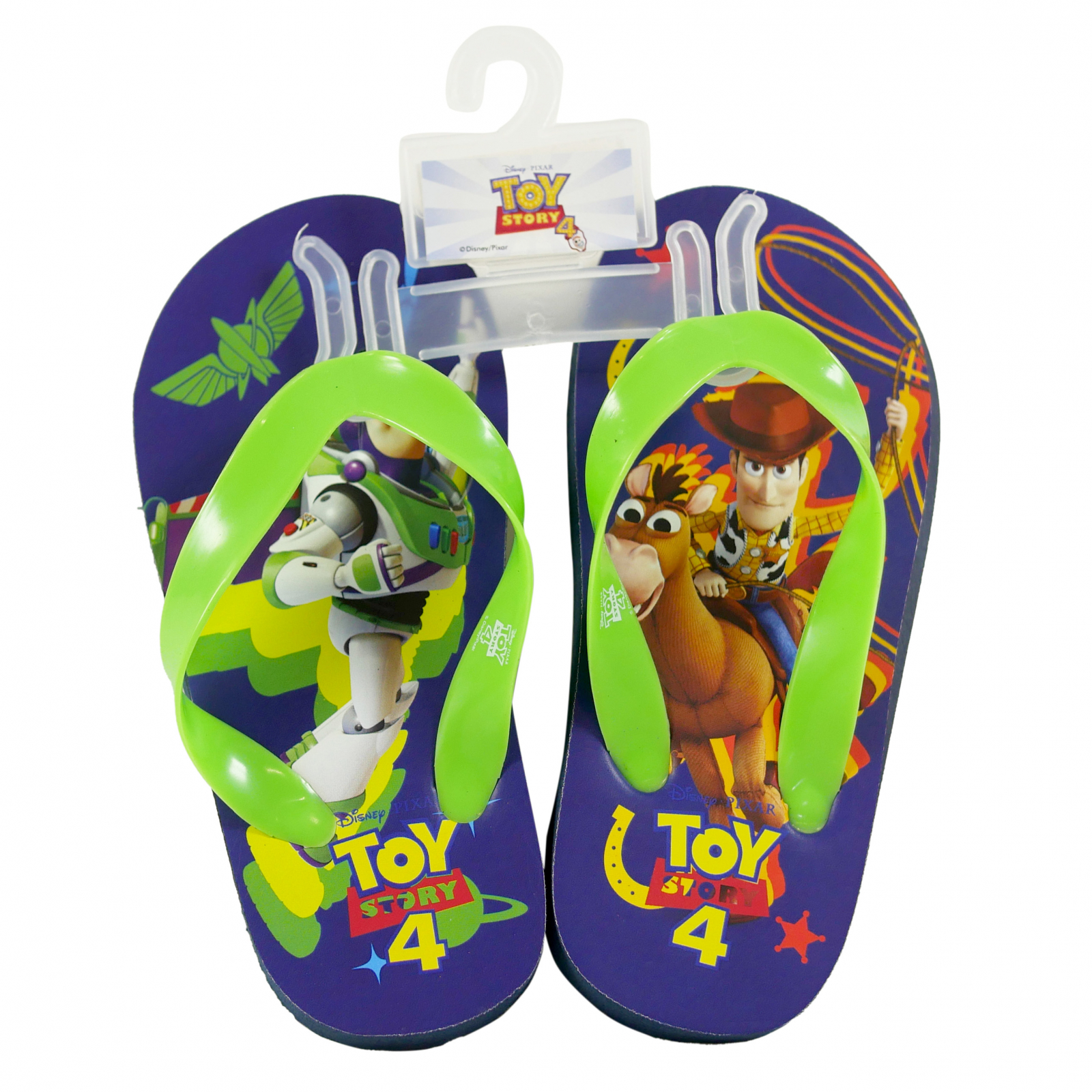 Disney Pixar Toy Story 4 Kids Sandals Green Strap Large 9/10