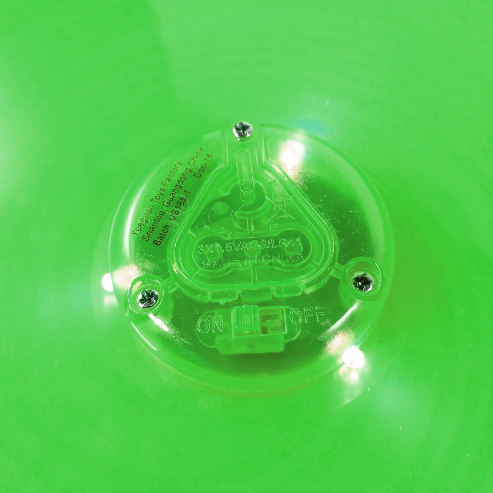 TychoTyke Kids Classic Flying Disc Light Up Toy - Green