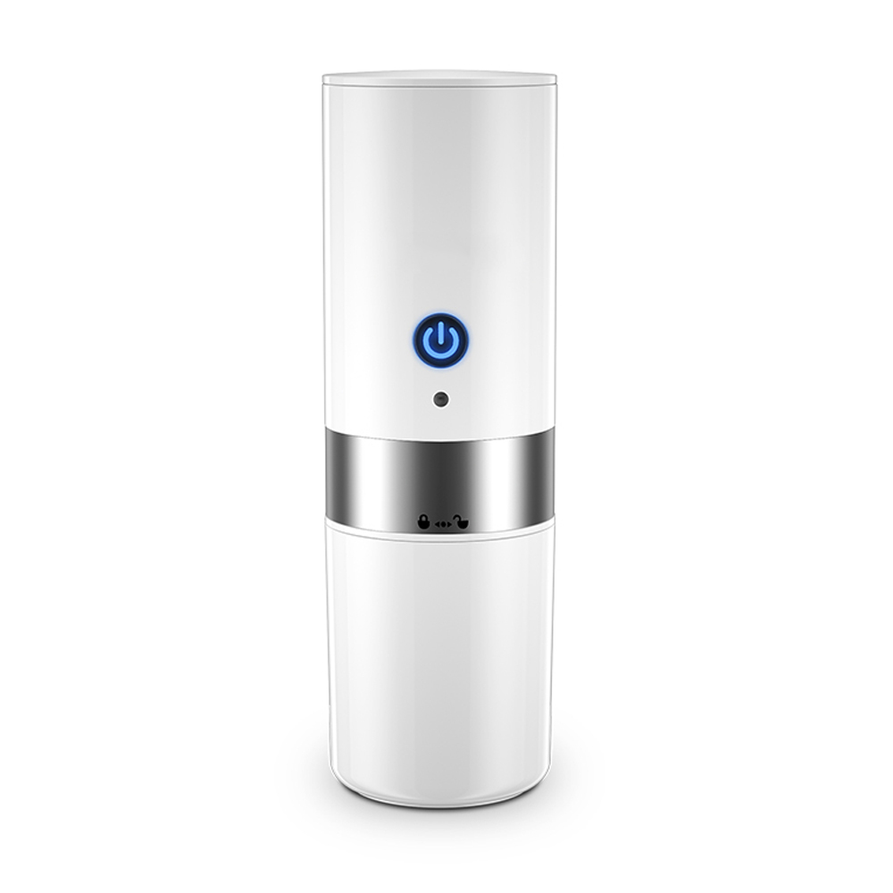 ASR Outdoor 2 in 1 Portable Travel Mini Coffee Maker, White