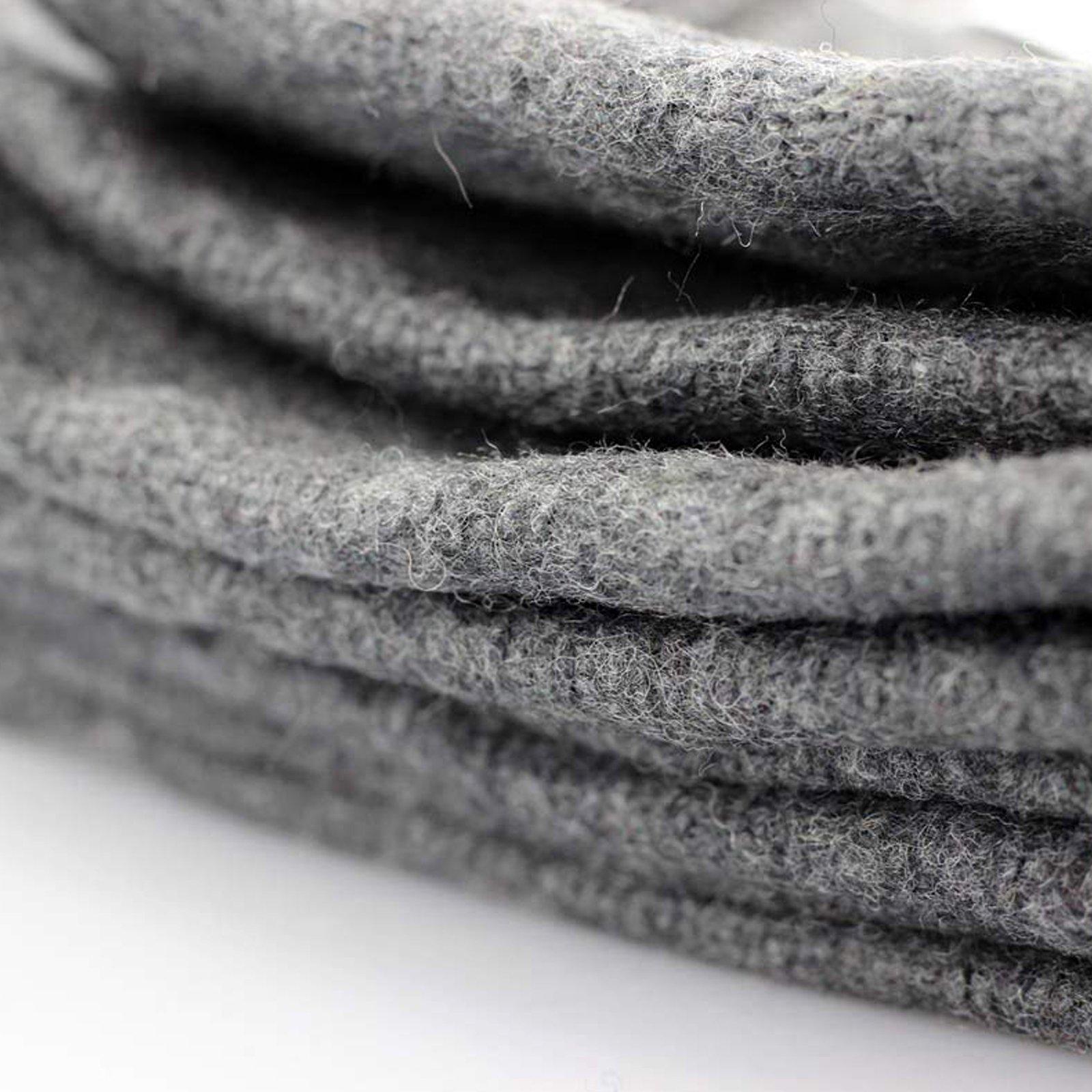 ASR Outdoor - 51 inch x 80 inch Gray Wool Blanket - 2lbs - 50 Percent Wool