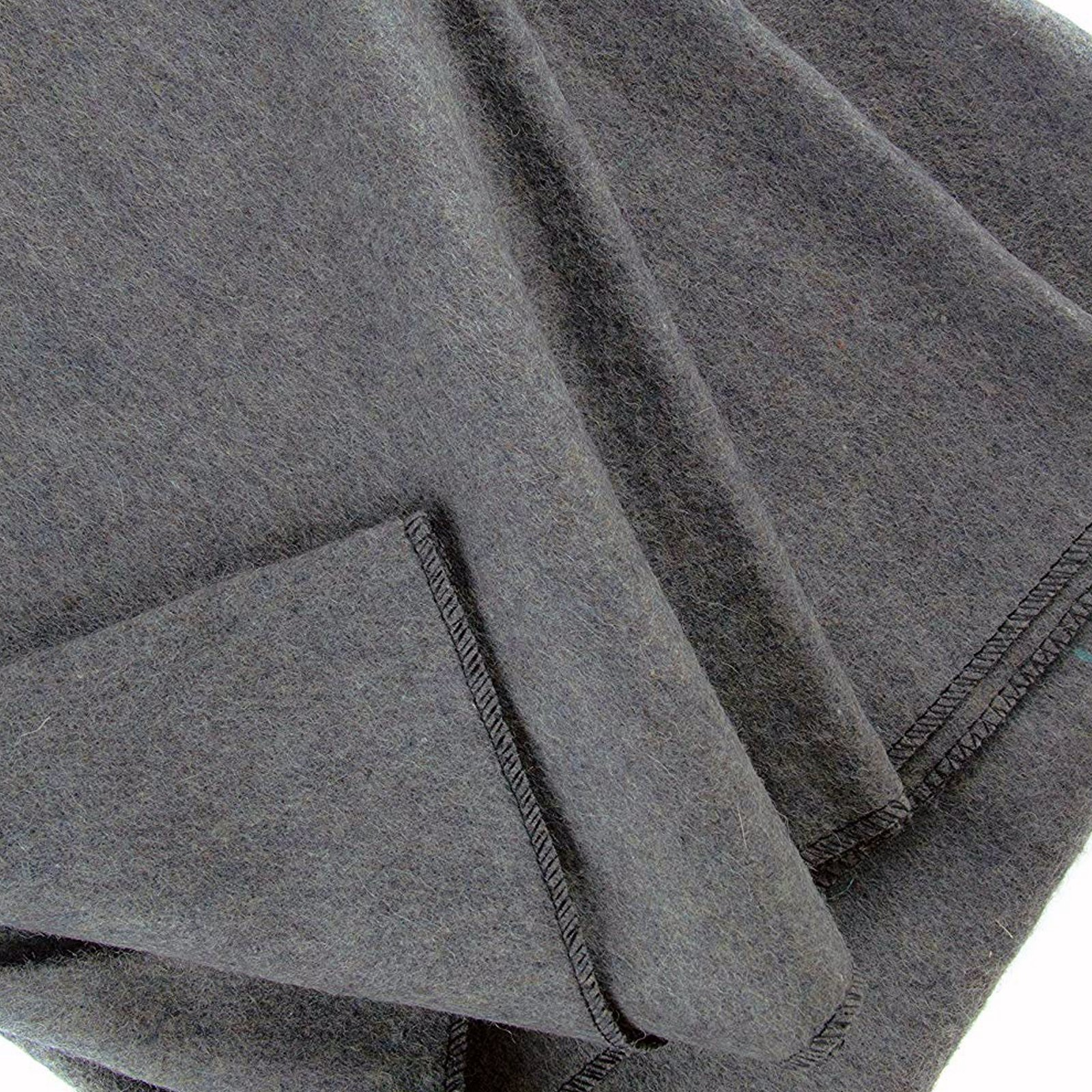 ASR Outdoor - 60 inch x 80 inch Grey Wool Blanket - 3 Pounds 70 Percent Wool