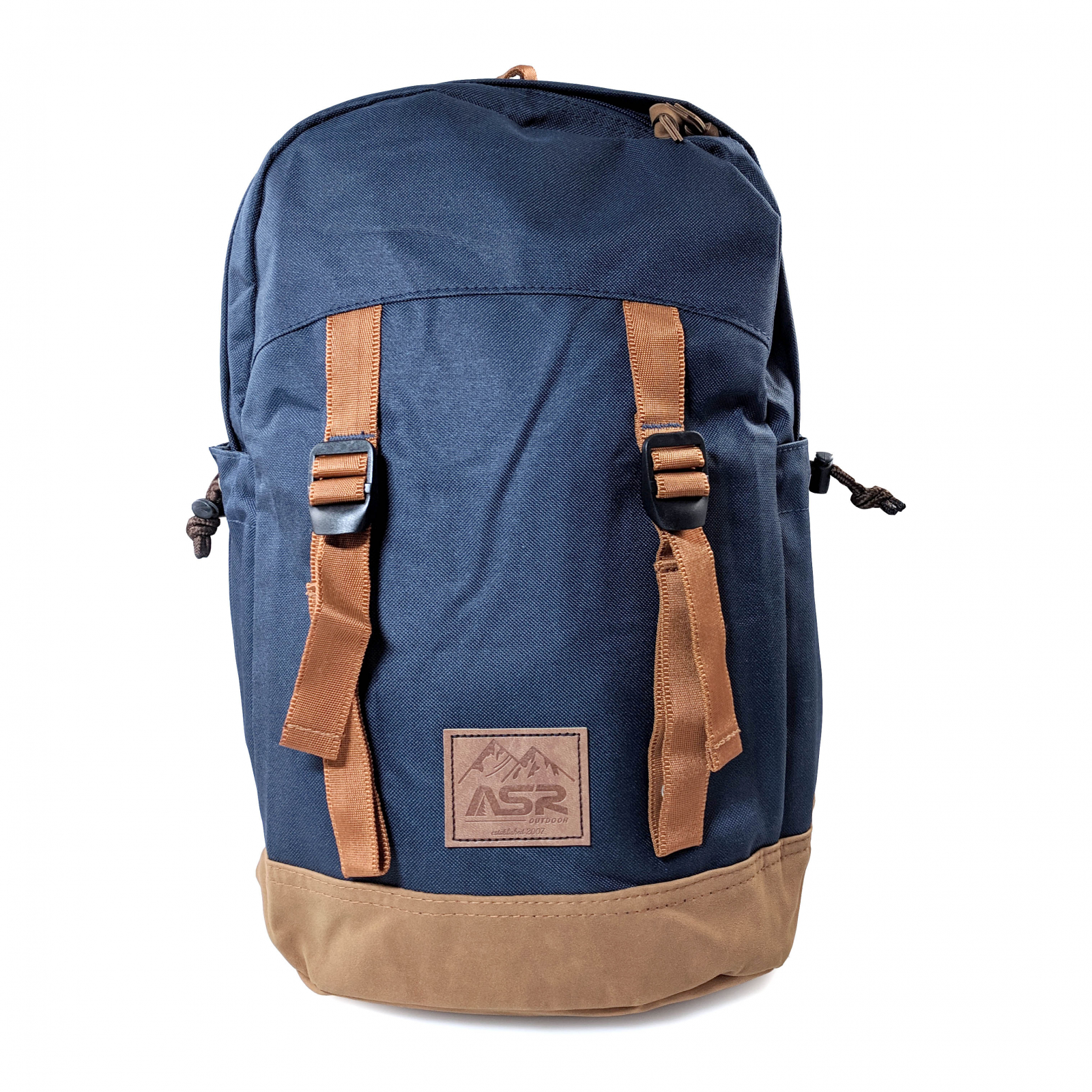 ASR Outdoor 18L Day Tripper Backpack for Outdoor Recreation Navy and Brown