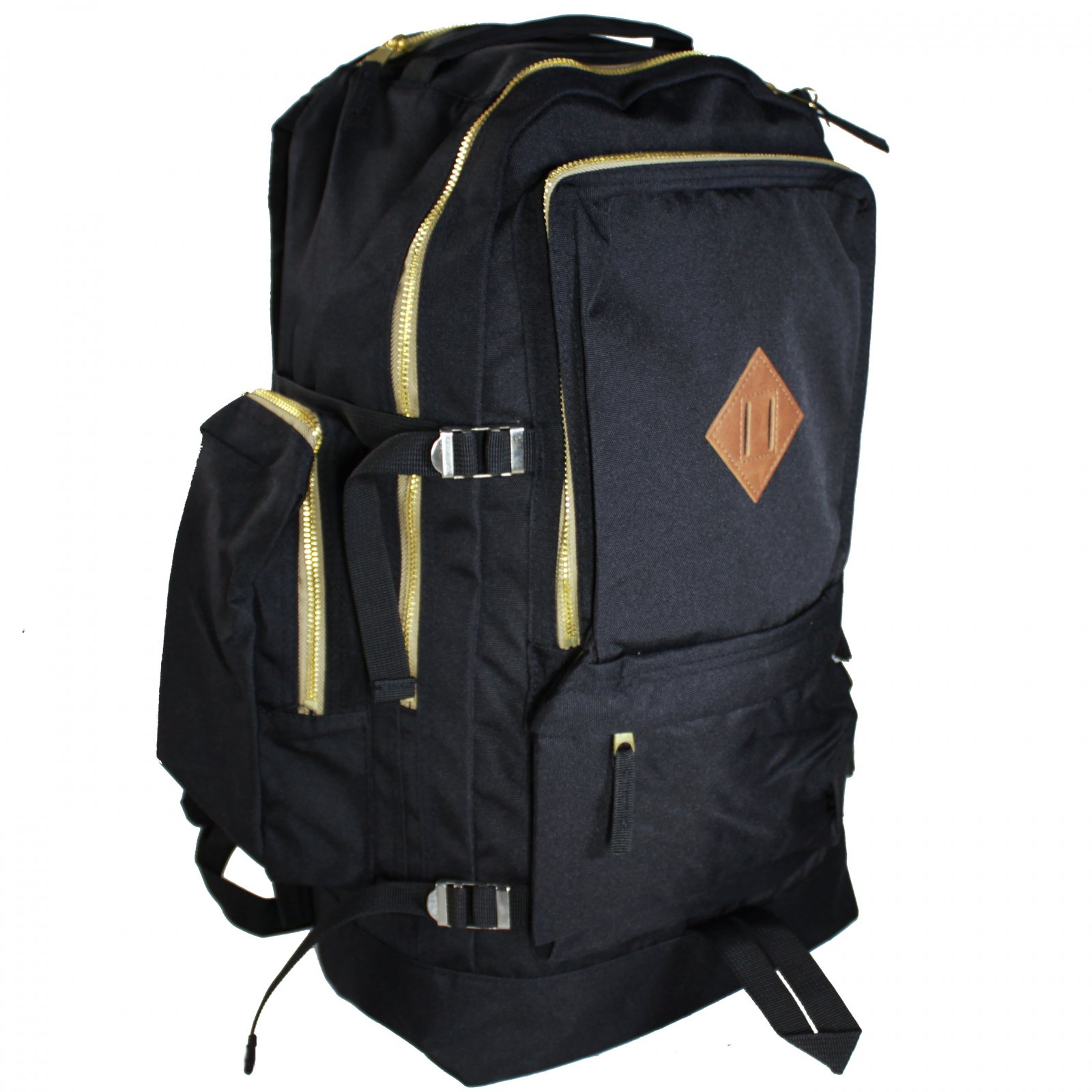 ASR Outdoor 24L Journey Day Backpack with Interior Laptop Pocket, Black and Gold