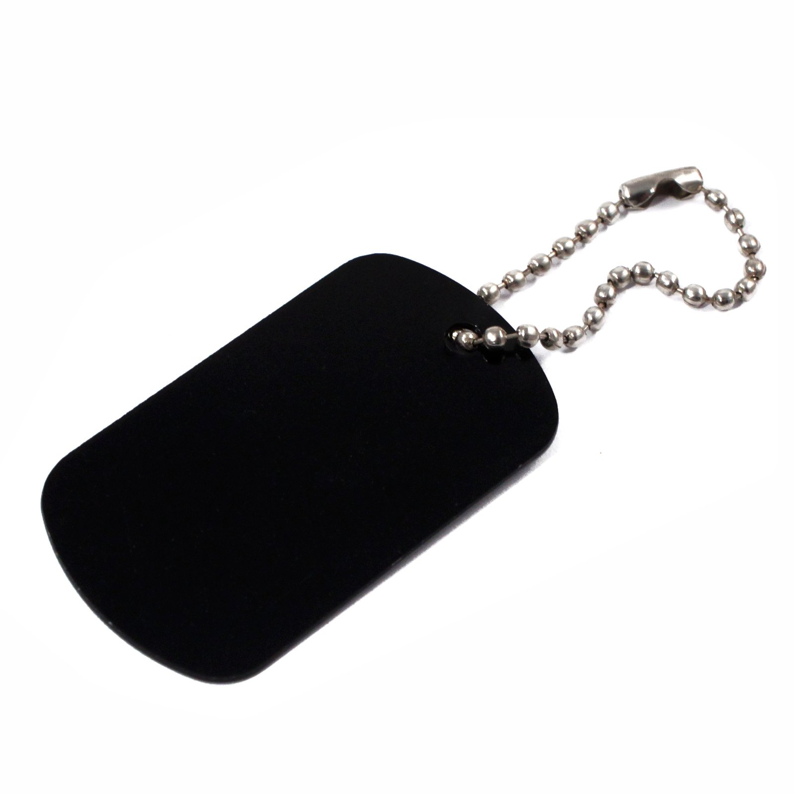 Black Aluminum Dog Tag
