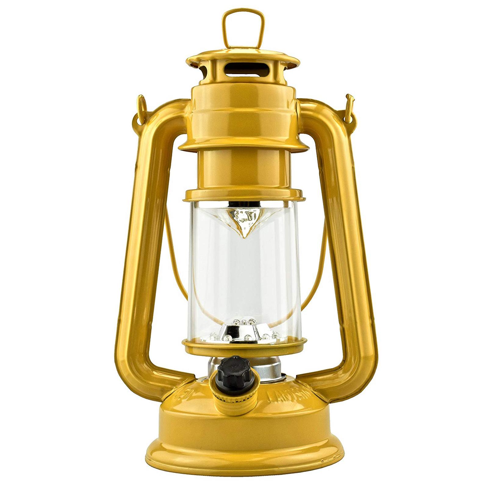 15 LED 9.5 in Hurricane Hanging Lantern Camping Light Yellow
