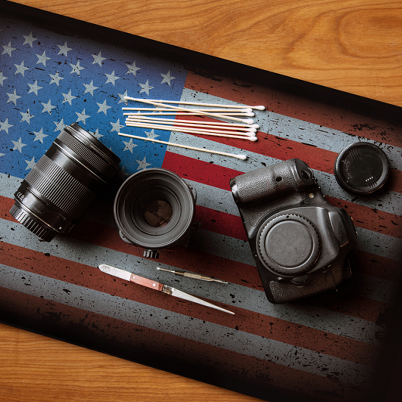 American Flag Non-Slip Gun and Electronics Cleaning Mat 18in