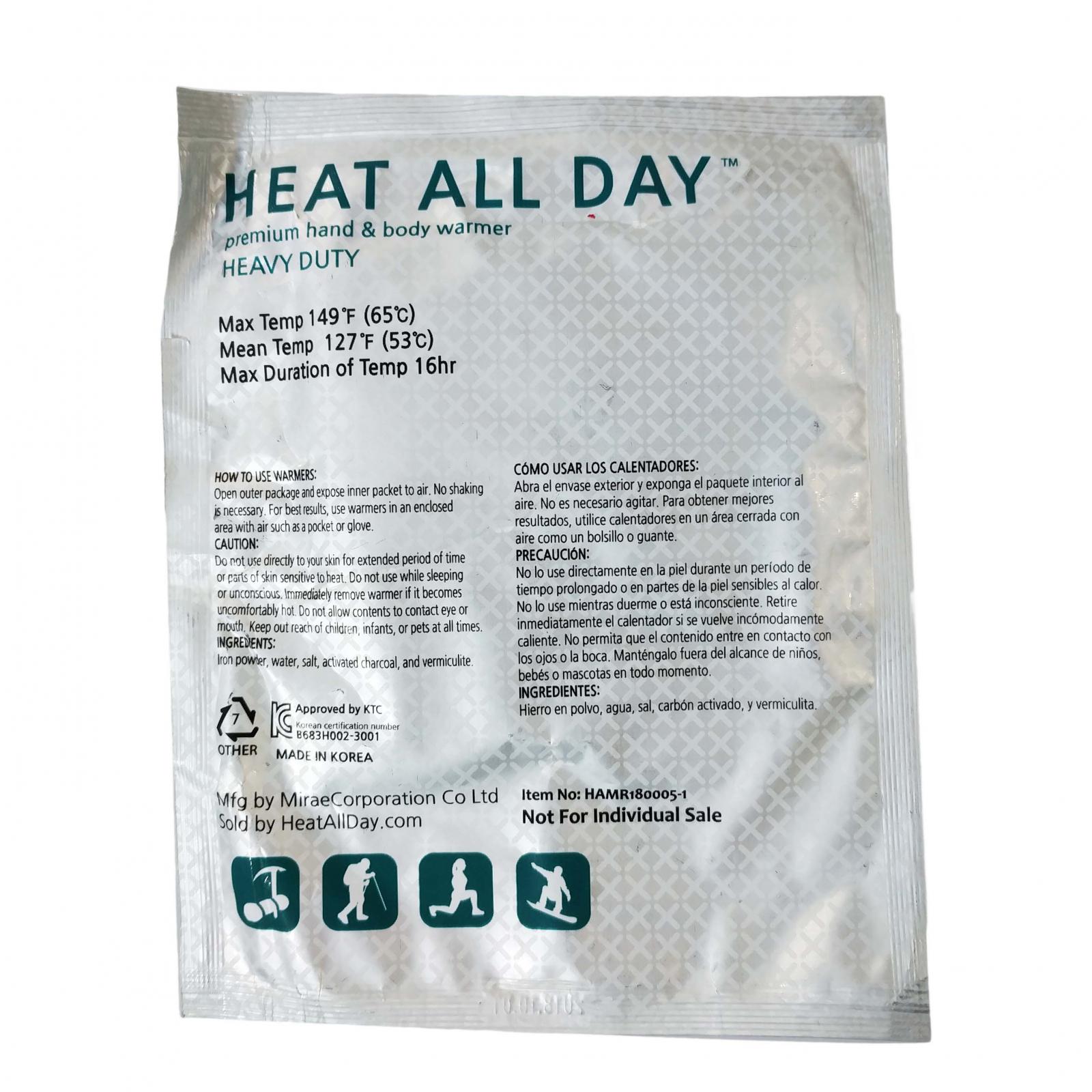 ASR Outdoor Heat All Day Premium Heavy Duty Hand Warmers