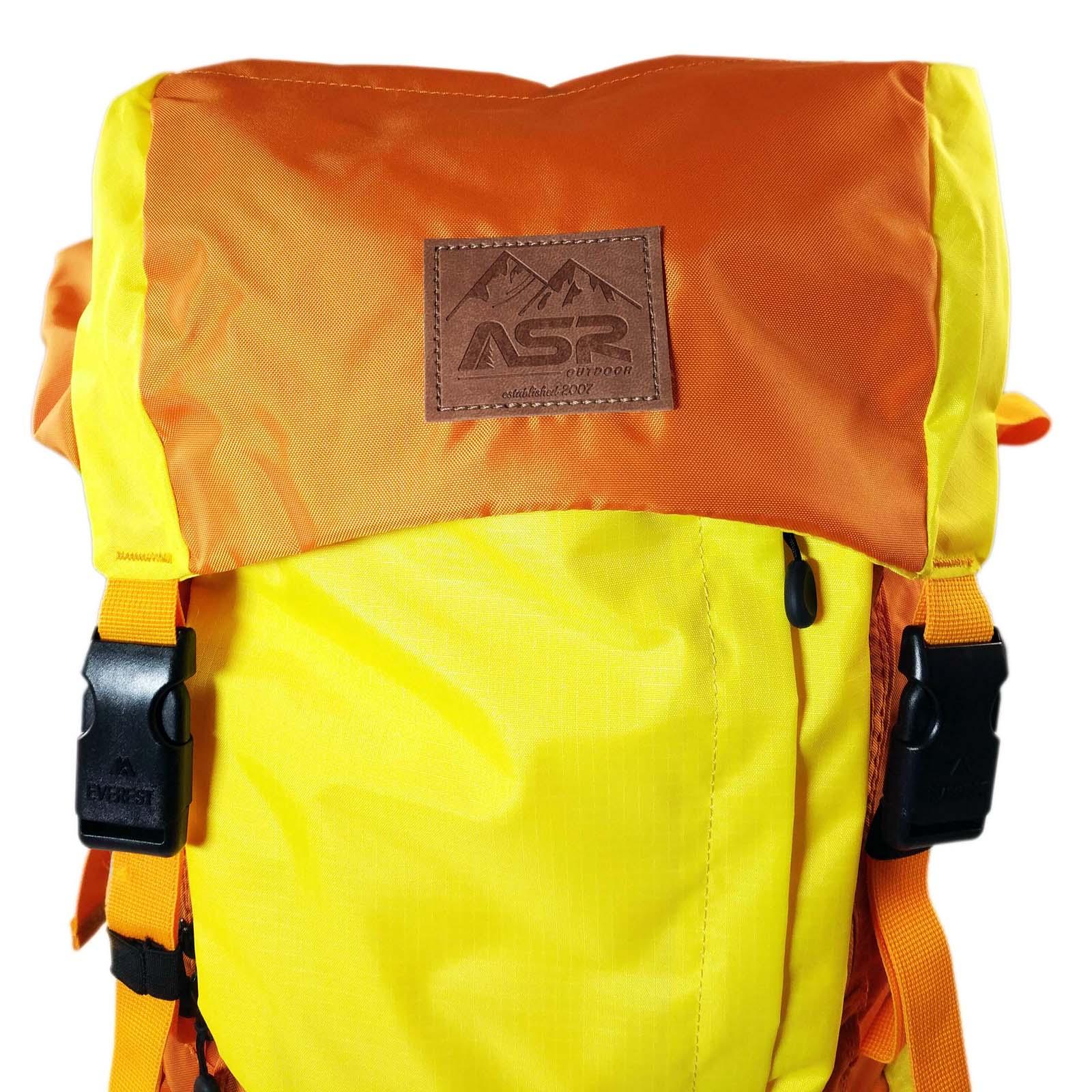 ASR Outdoor Weekender Day Packing Hiking Backpack - Orange