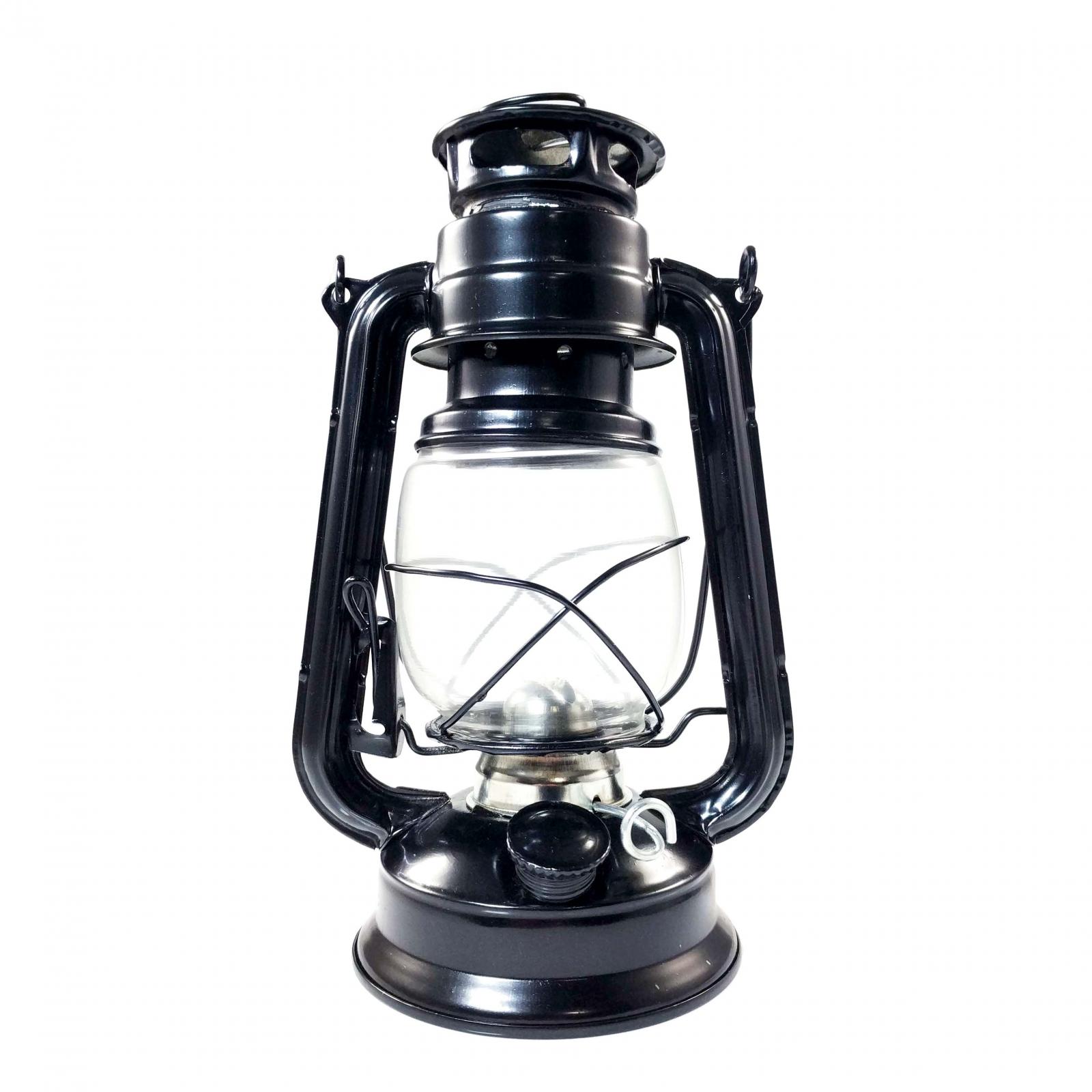 Vintage Hanging Hurricane Camping Kerosene Oil Lantern Black