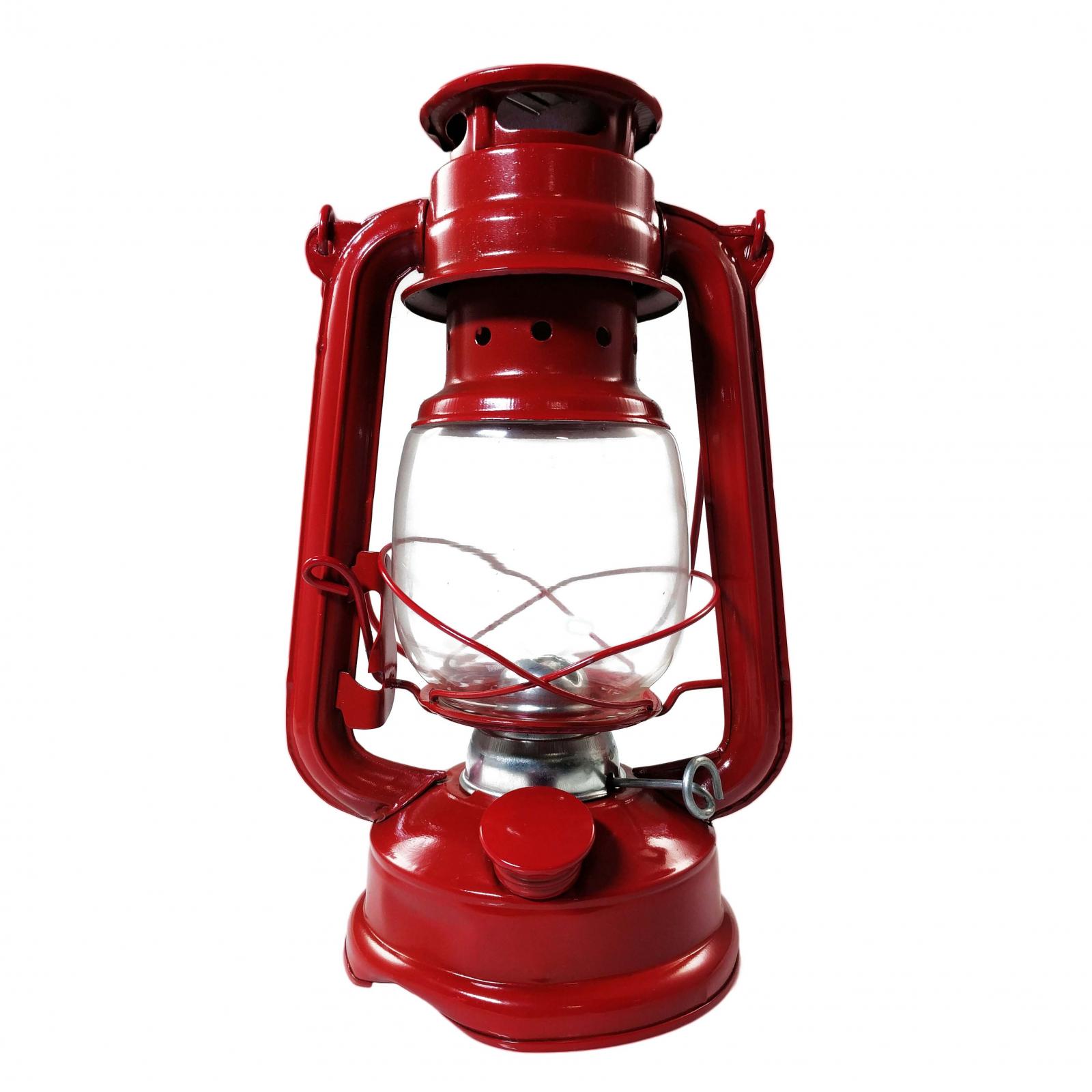 Vintage Hanging Hurricane Camping Kerosene Oil Lantern Red