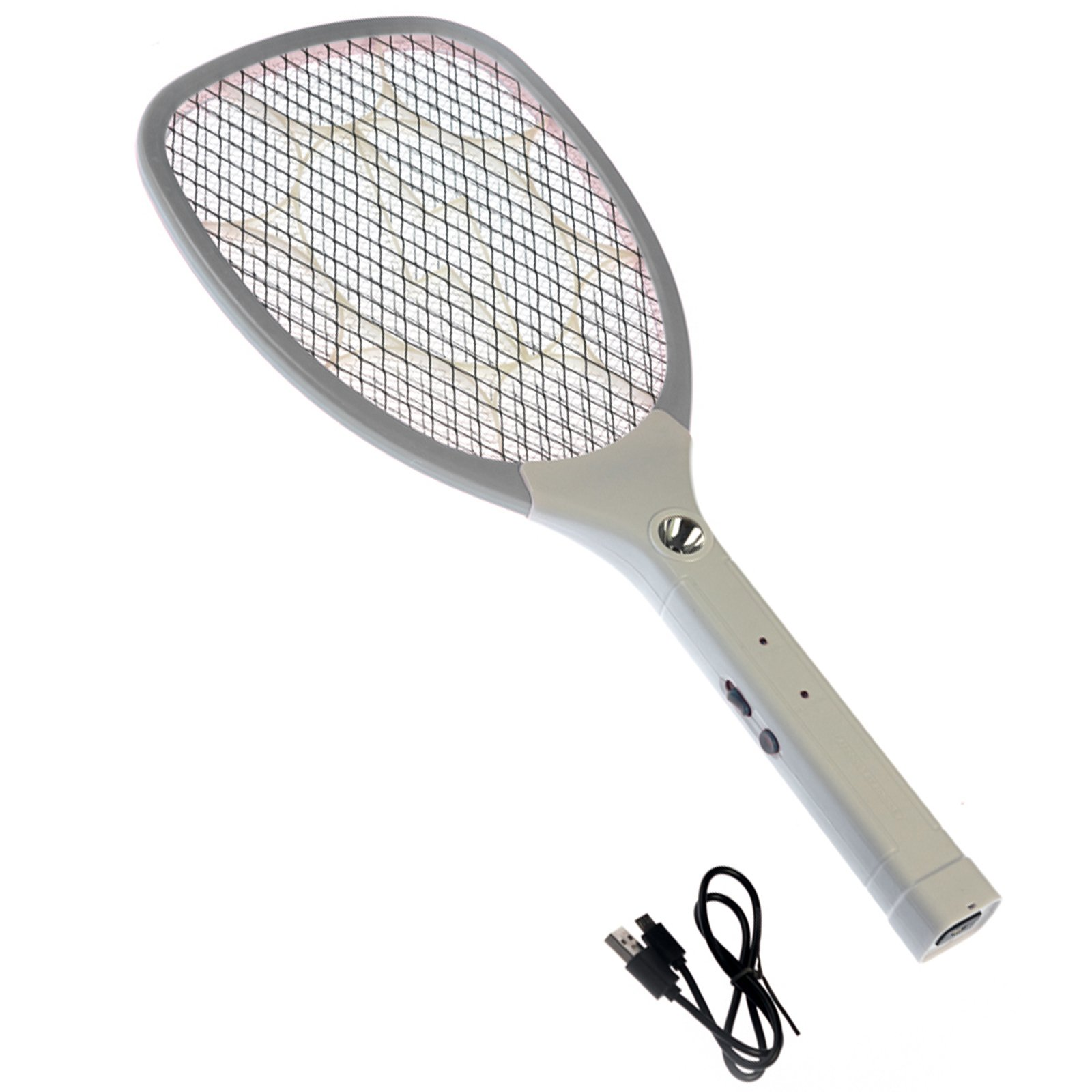 ASR Outdoor Handheld Micro USB Rechargeable Bug Zapper Flashlight Paddle - Grey