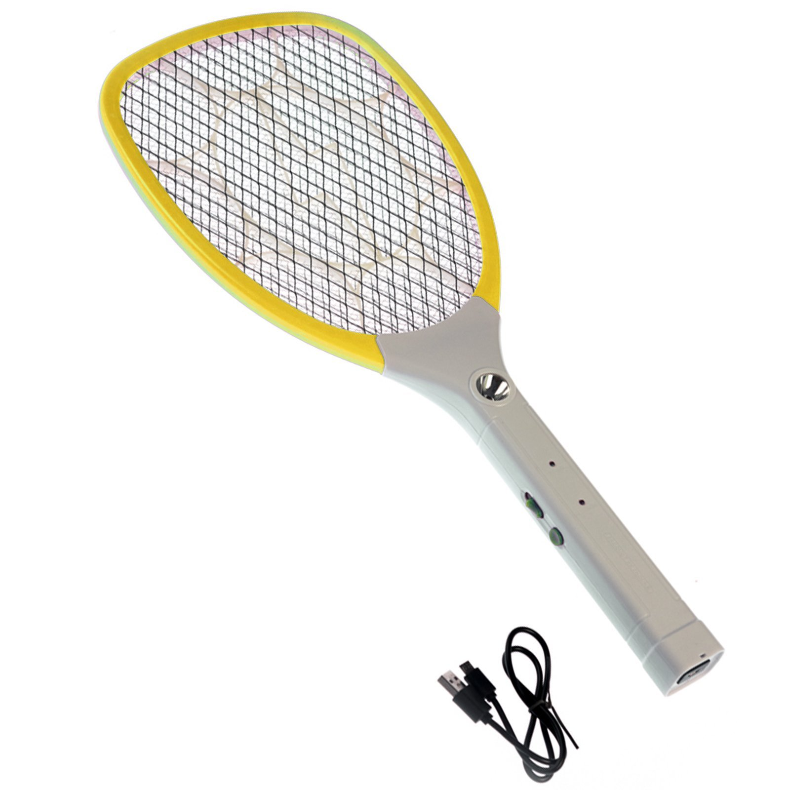 ASR Outdoor Handheld Micro USB Rechargeable Bug Zapper Flashlight Paddle- Yellow