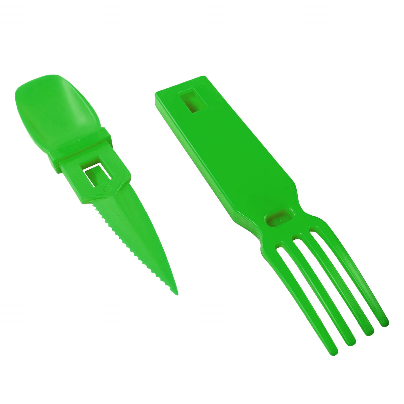ASR Outdoor Snapatite 3 in 1 Utensil Camping Tool - Green