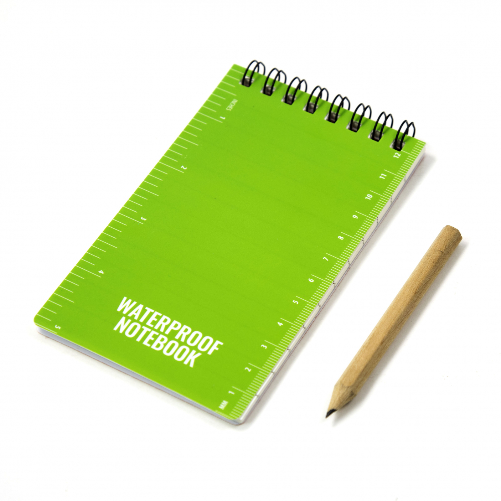 ASR Outdoor Waterproof Paper Pocket Spiral Notebook Travel Journal Field Notes Notepad with Pencil, Green, 50 Page Lined