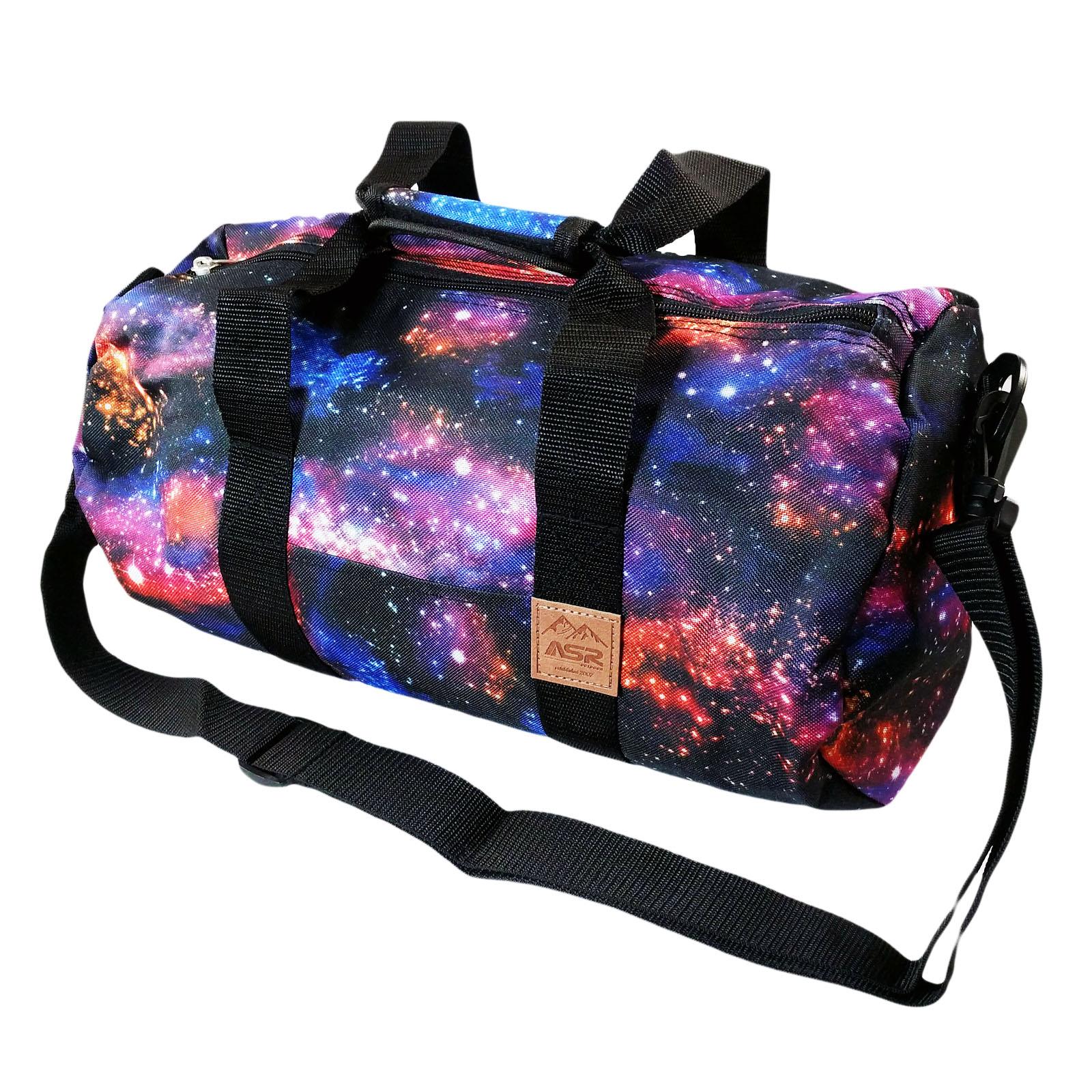 ASR Outdoor Galaxy Pattern Duffel Bag Shoulder Strap Blue
