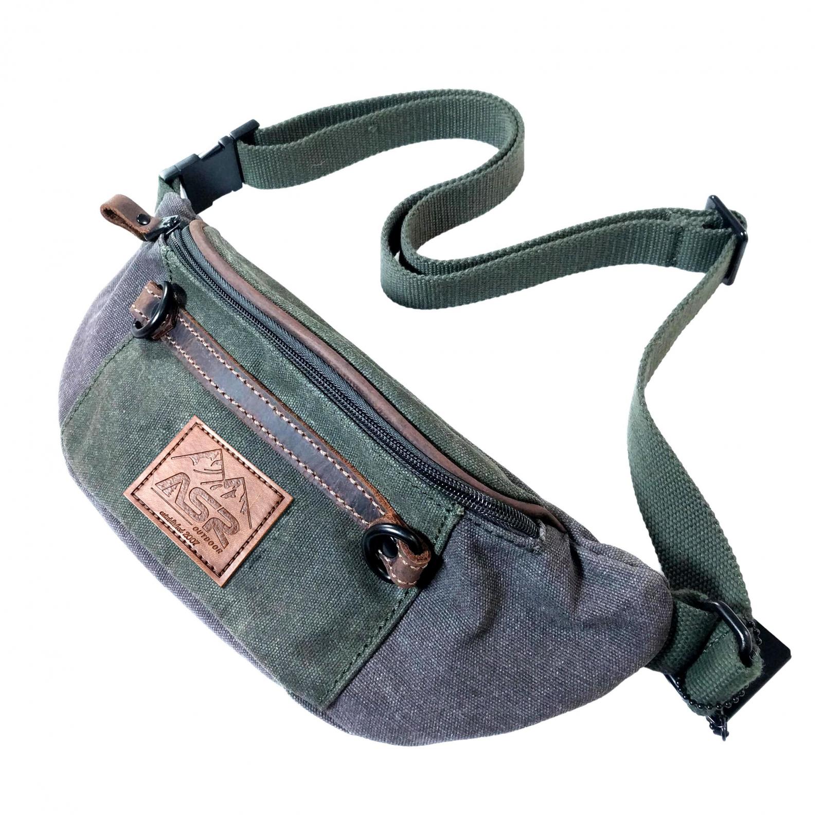 ASR Outdoor Man Pack Fanny Waist Bag Water Resistant - Green