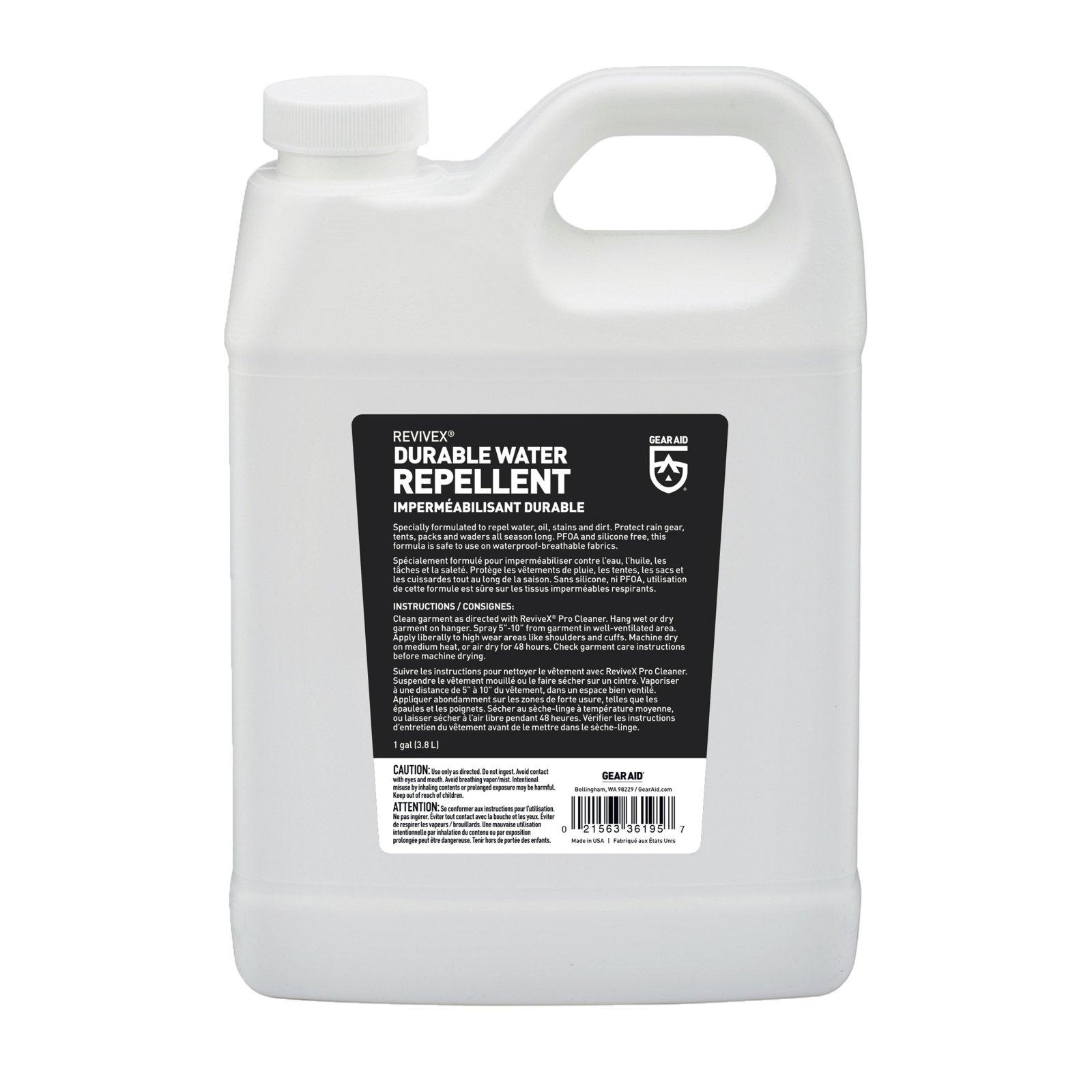 Gear Aid Revivex Durable Water Repellent Solution Raingear Waterproof 1 Gallon