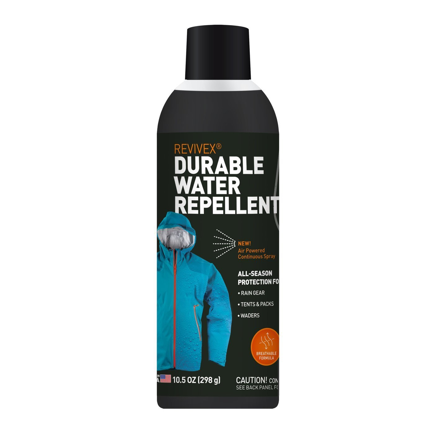 Gear Aid ReviveX Waterproof Repellent Spray For Outdoor Camping Gear - 10.5 oz