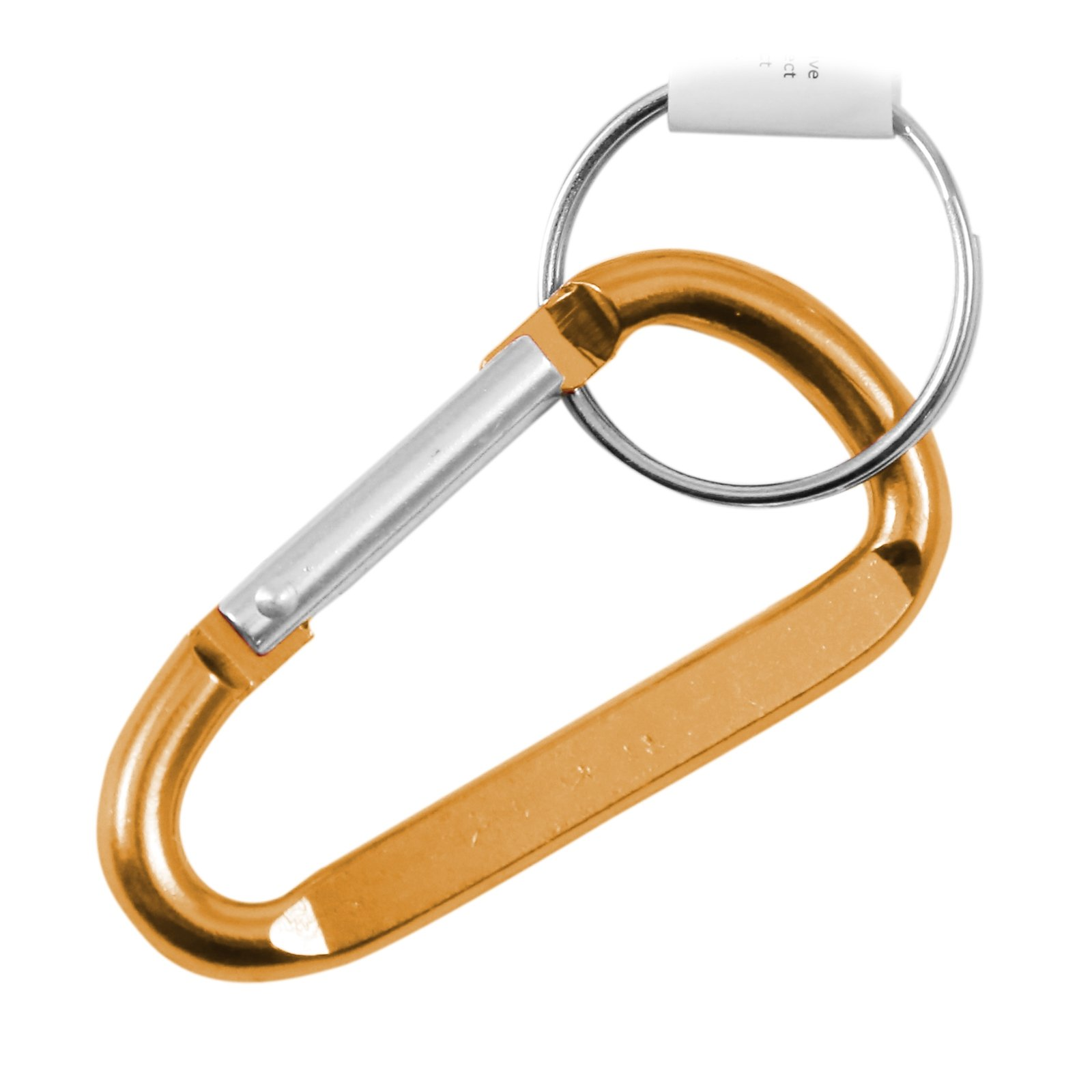 5mm 2 Inch Extra Small Carabiner Key Chain - Orange