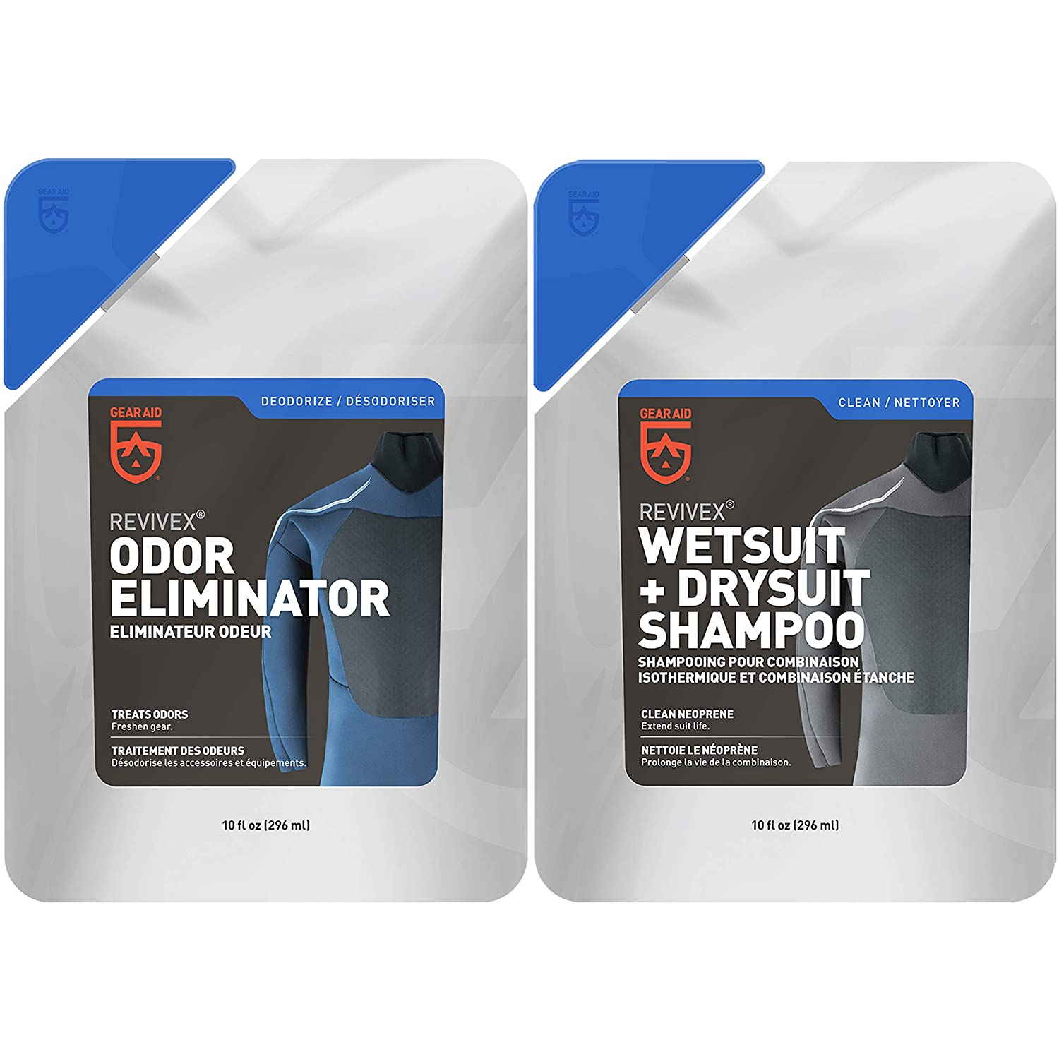 GEAR AID Wetsuit Cleaner and Conditioner for Neoprene, Odor Kit
