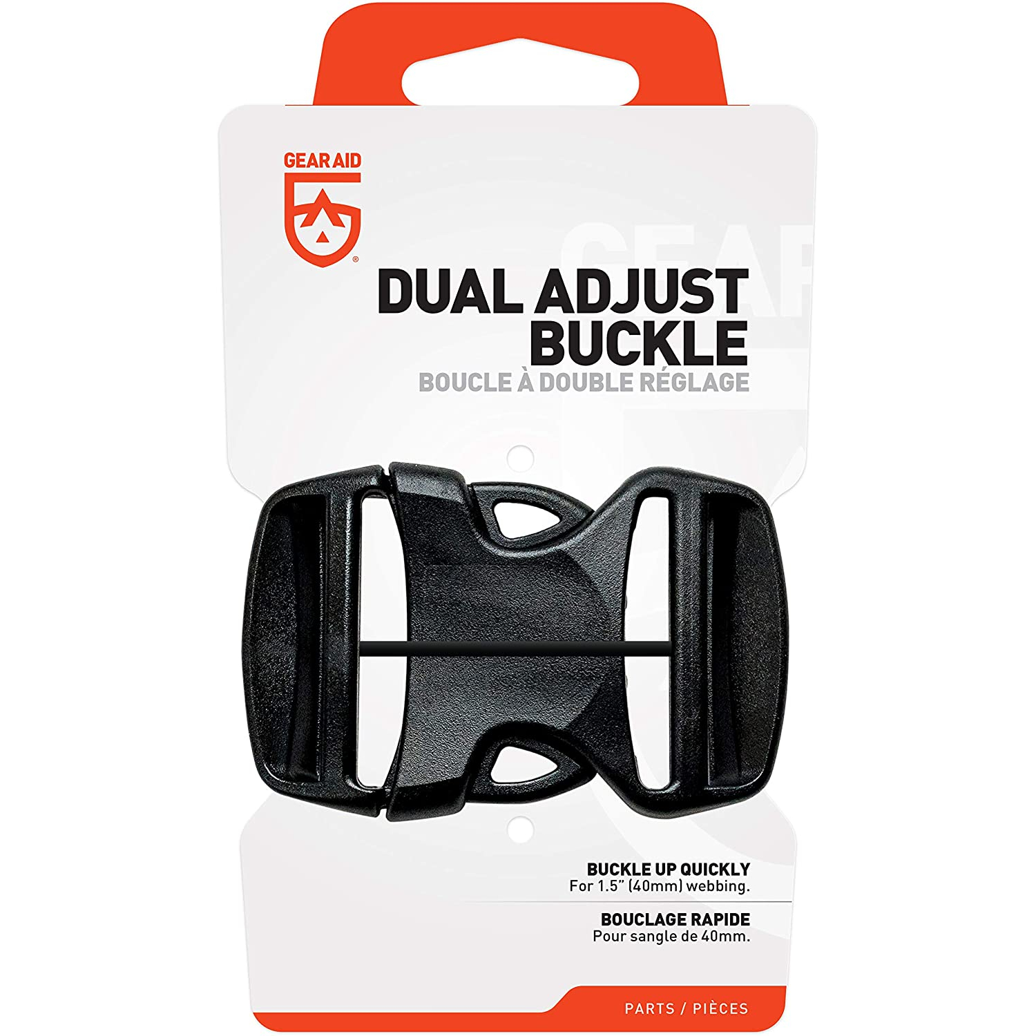 """(6 Pack) GEAR AID Dual Adjust Replacement Buckle Kit, 1.5"""""""