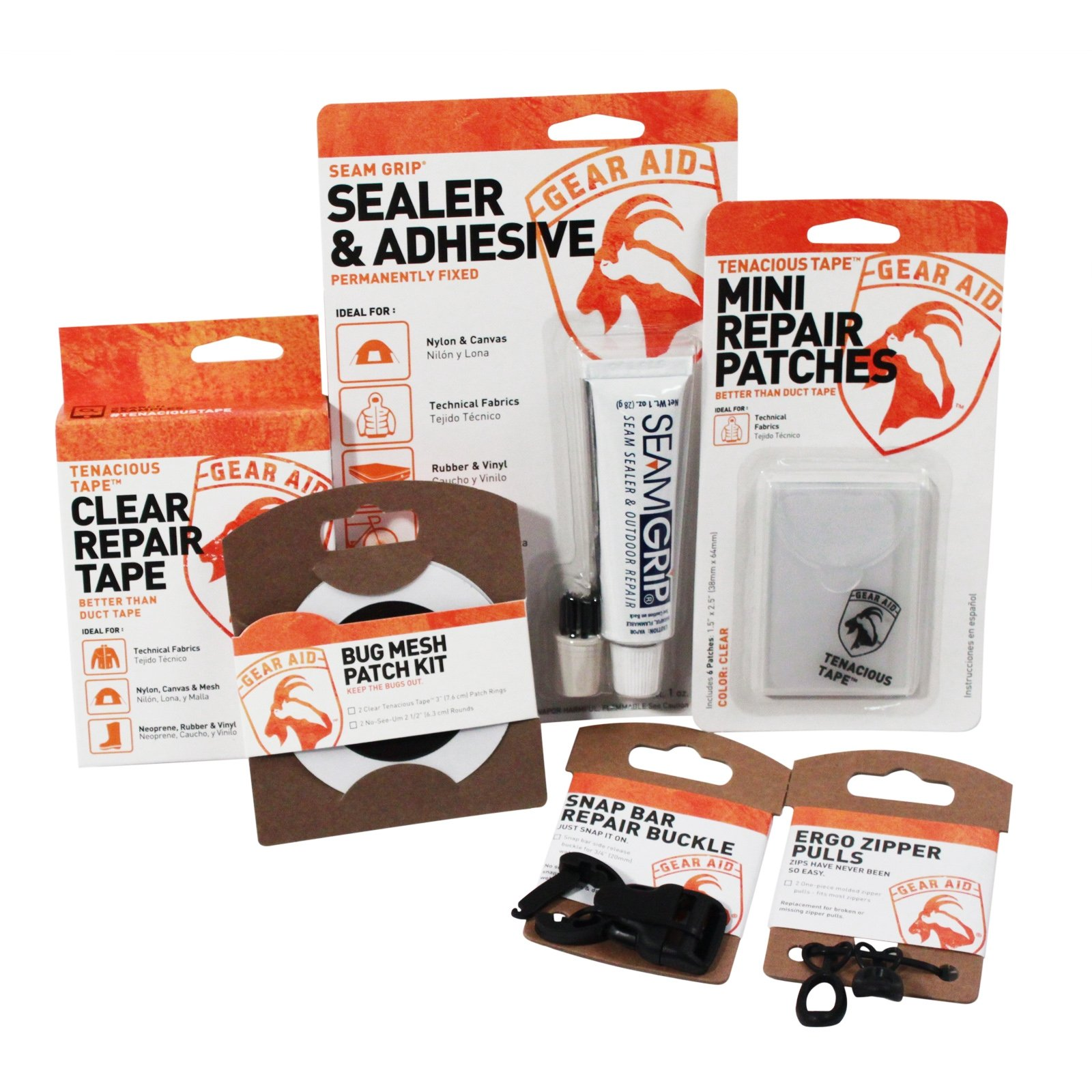 The Complete Outdoor Adventure Camping Equipment Repair Kit By Gear Aid