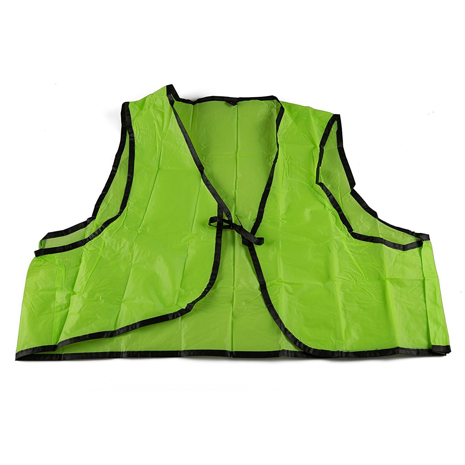 Universal Fit Disposable Safety Vest High Visibility Lime Green