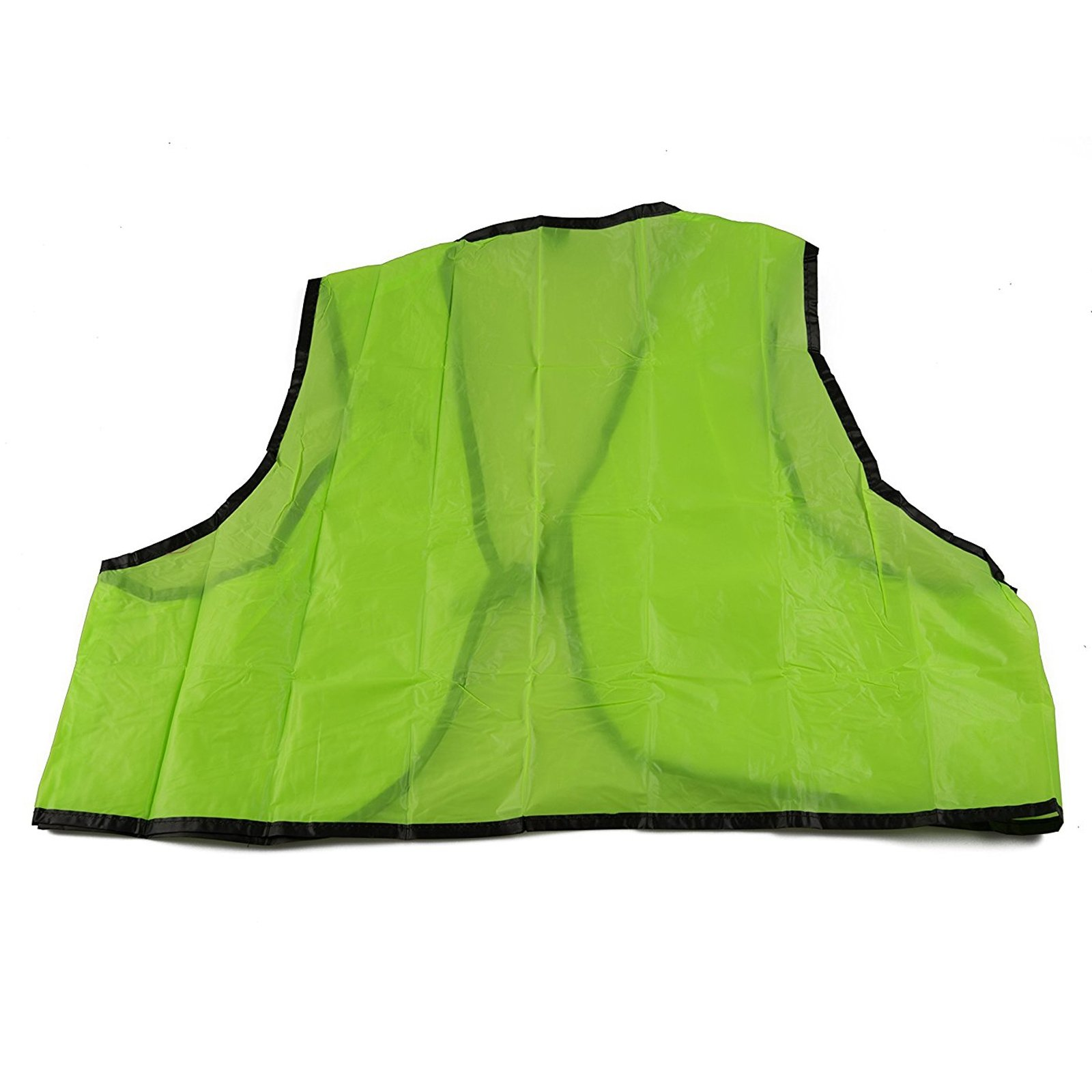 ASR Outdoor Safety Disposable Vest High Visibility One Size Fits Most Lime Green
