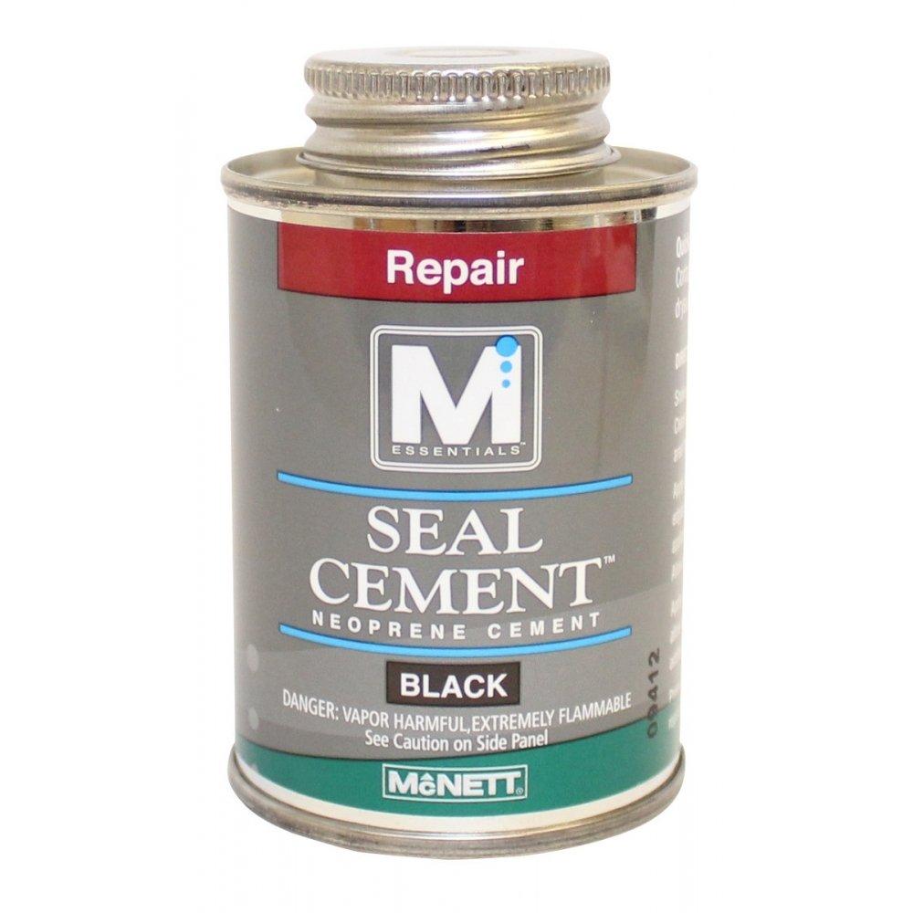 Wetsuit Drysuit Neoprene Seal Cement Waterproof Repair - 4 oz Black