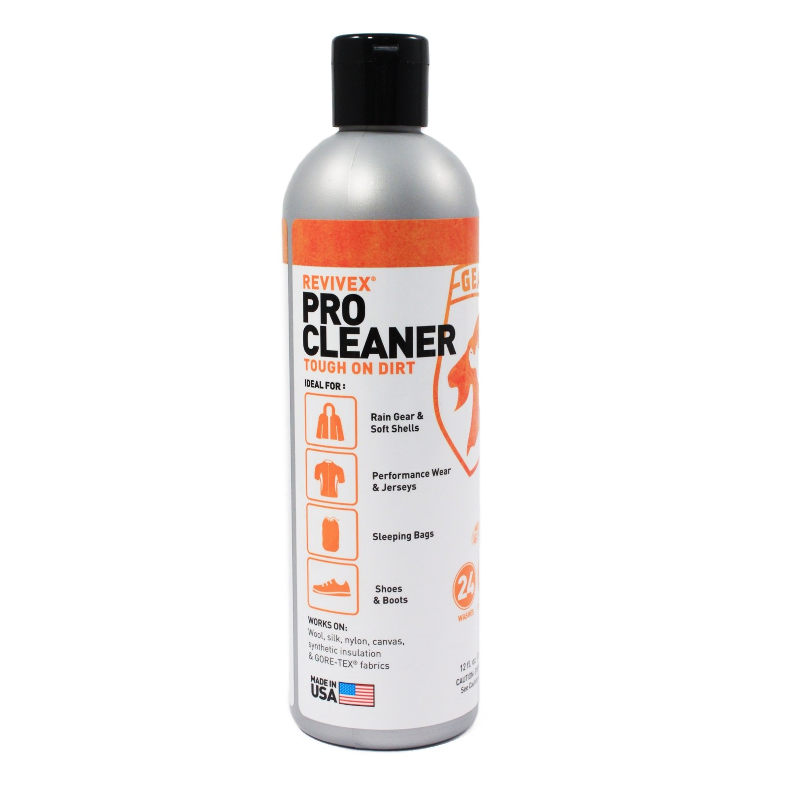 12oz Gear Aid Revivex Pro Cleaner Tough On Dirt High Efficiency 4x Concentrate