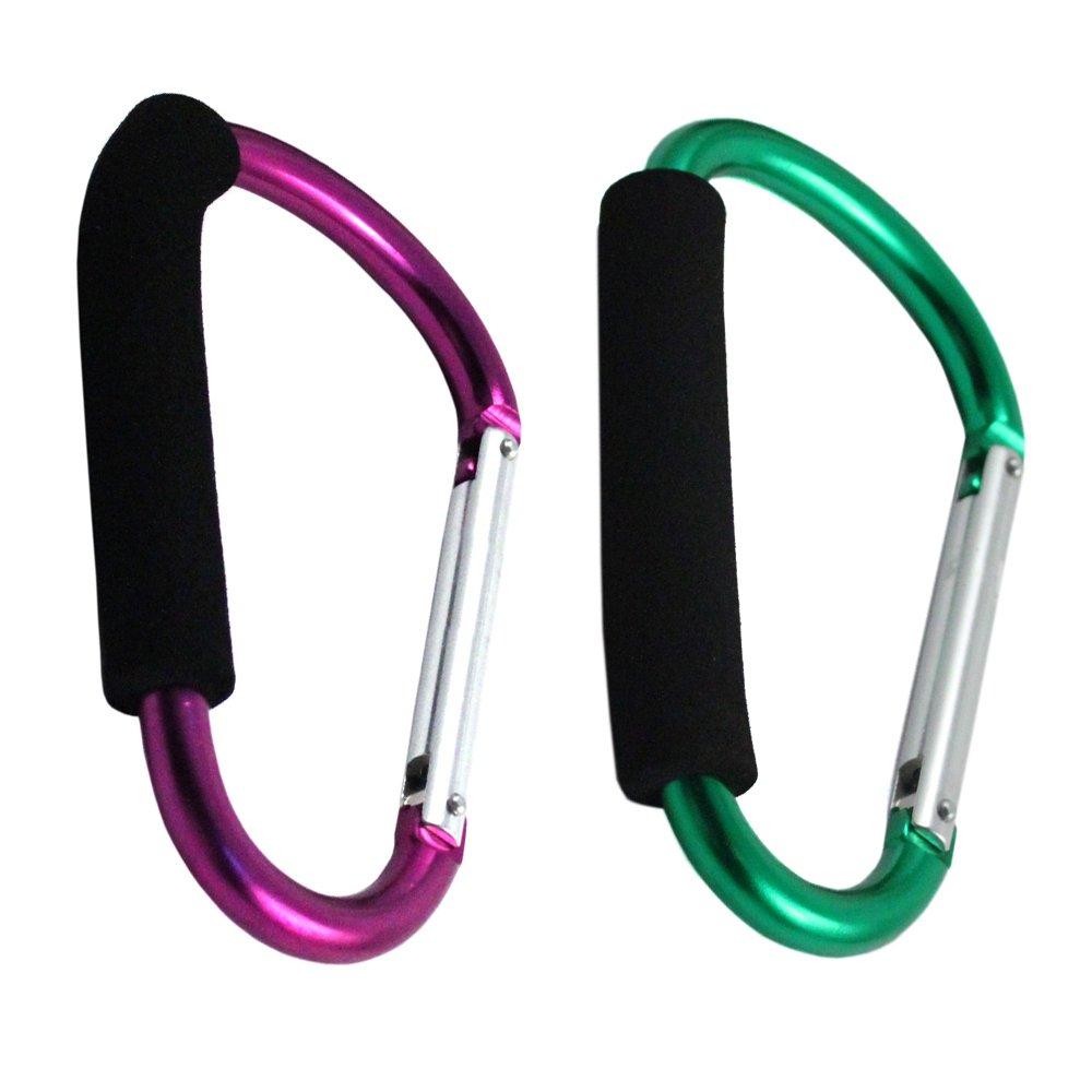 Non Climbing Carabiner Clip Keychain XL Jumbo Green and Purple